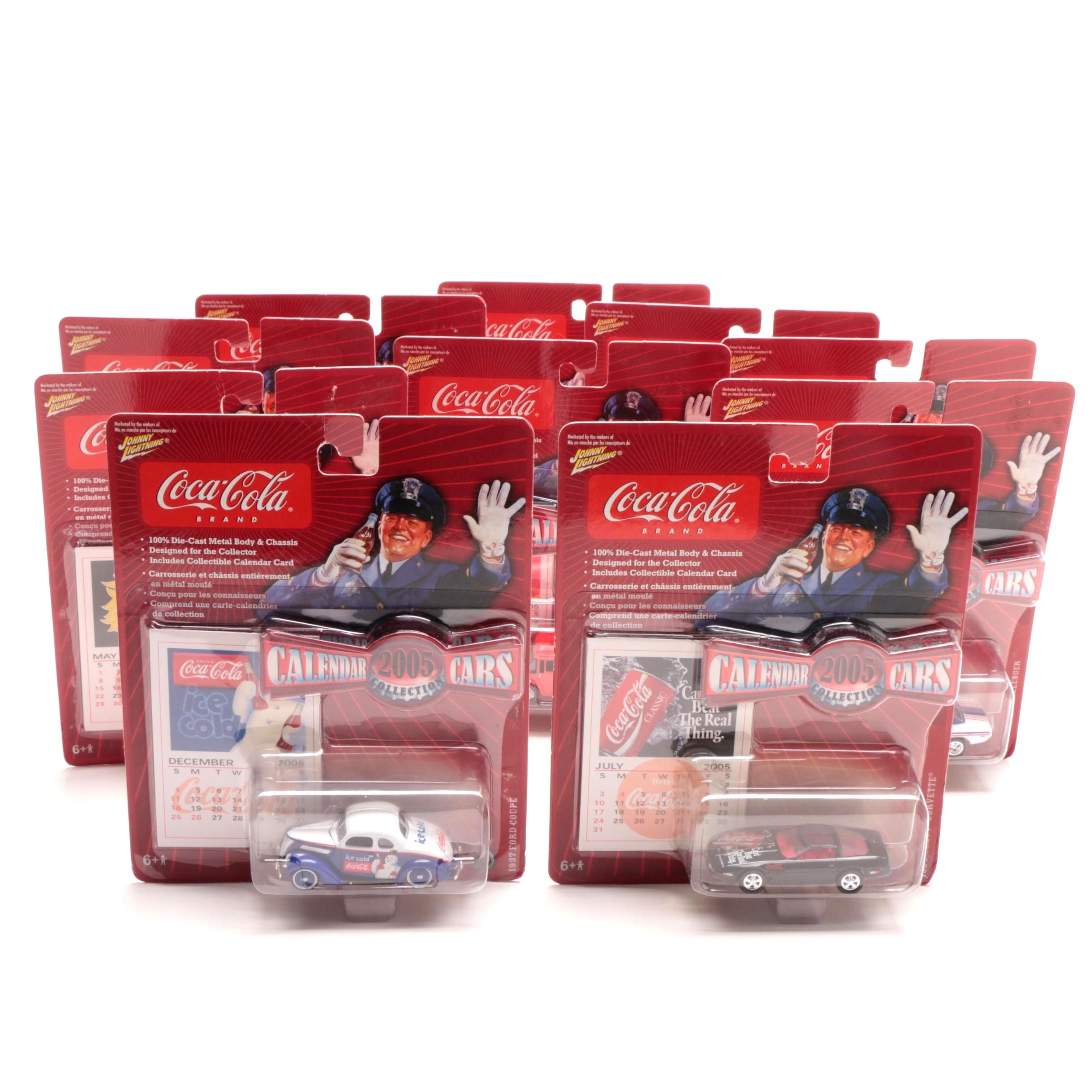 "Coca-Cola ""2005 Collection Calendar Cars"" Die-Cast Collector Cars"