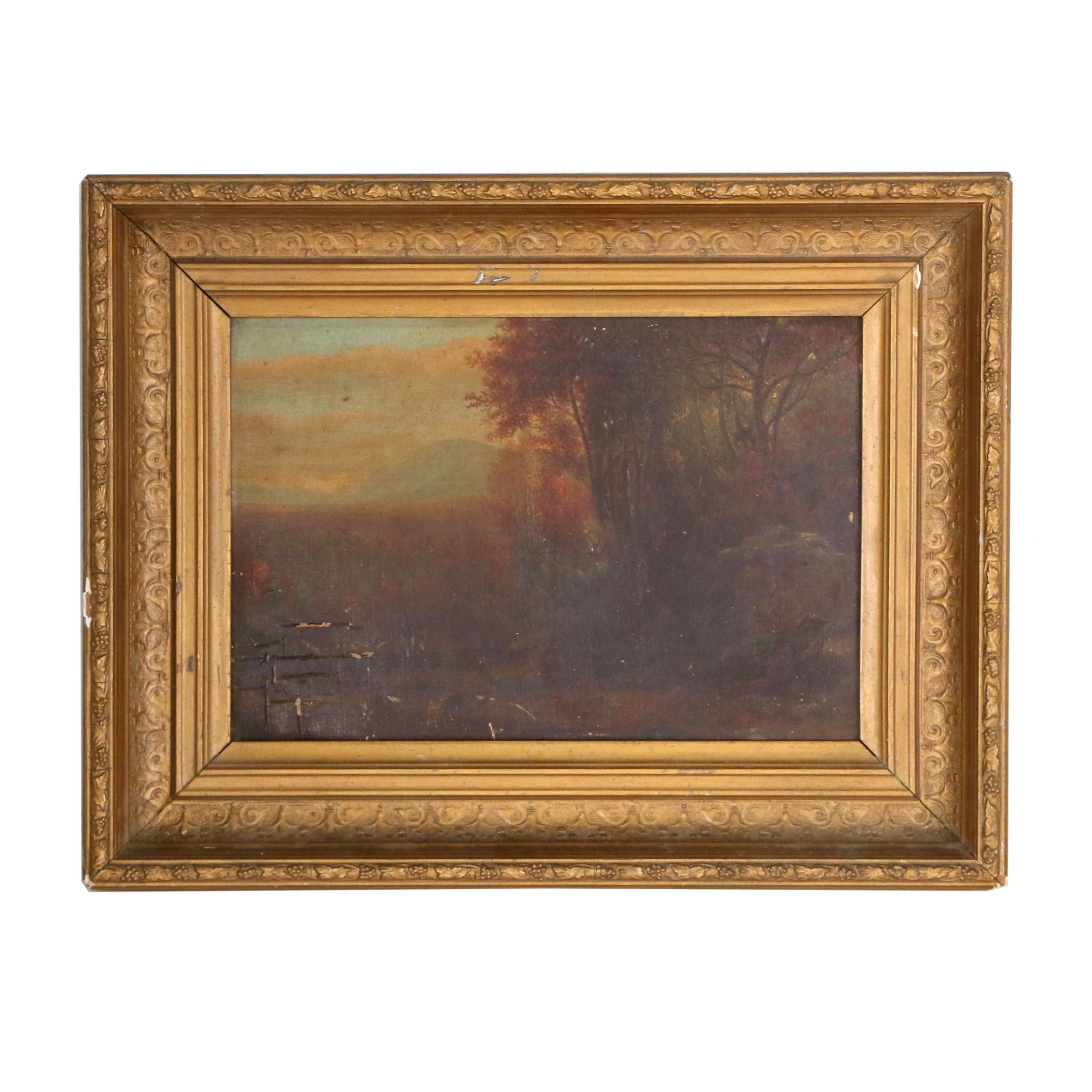 Vintage Scenic Oil Painting