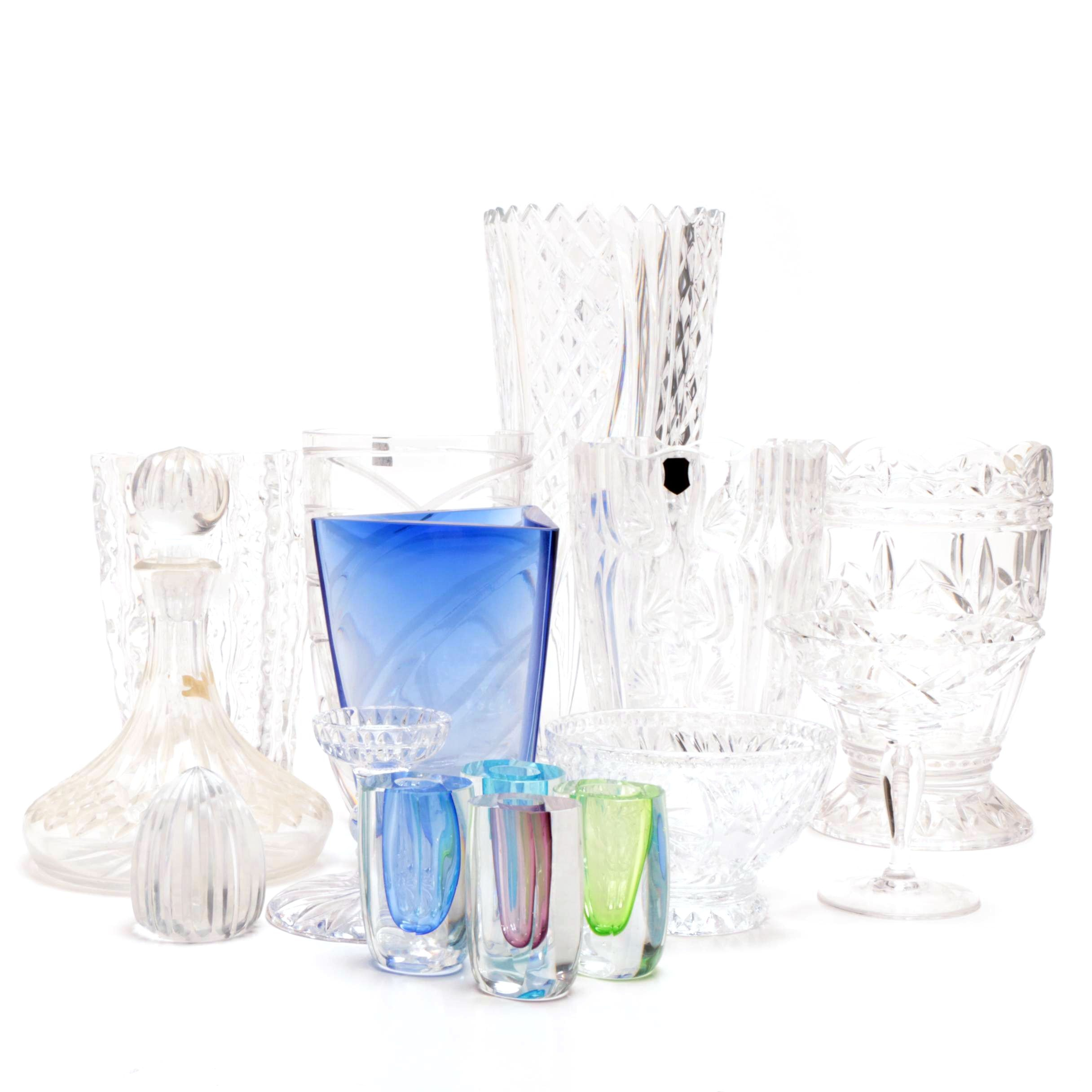 Collection of Crystal Table Decor