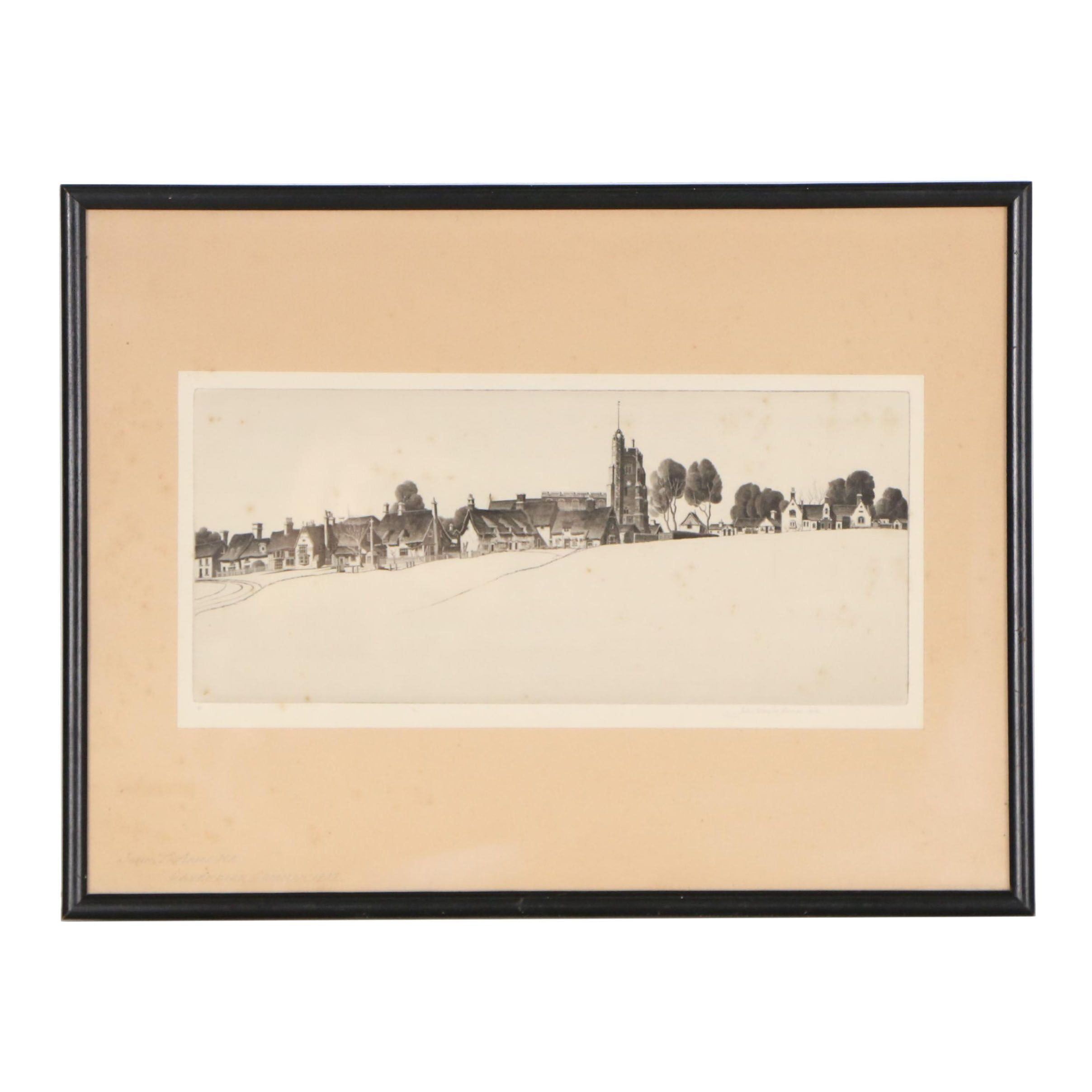 "John Taylor Arms Etching ""Cavendish Common, 1938"""