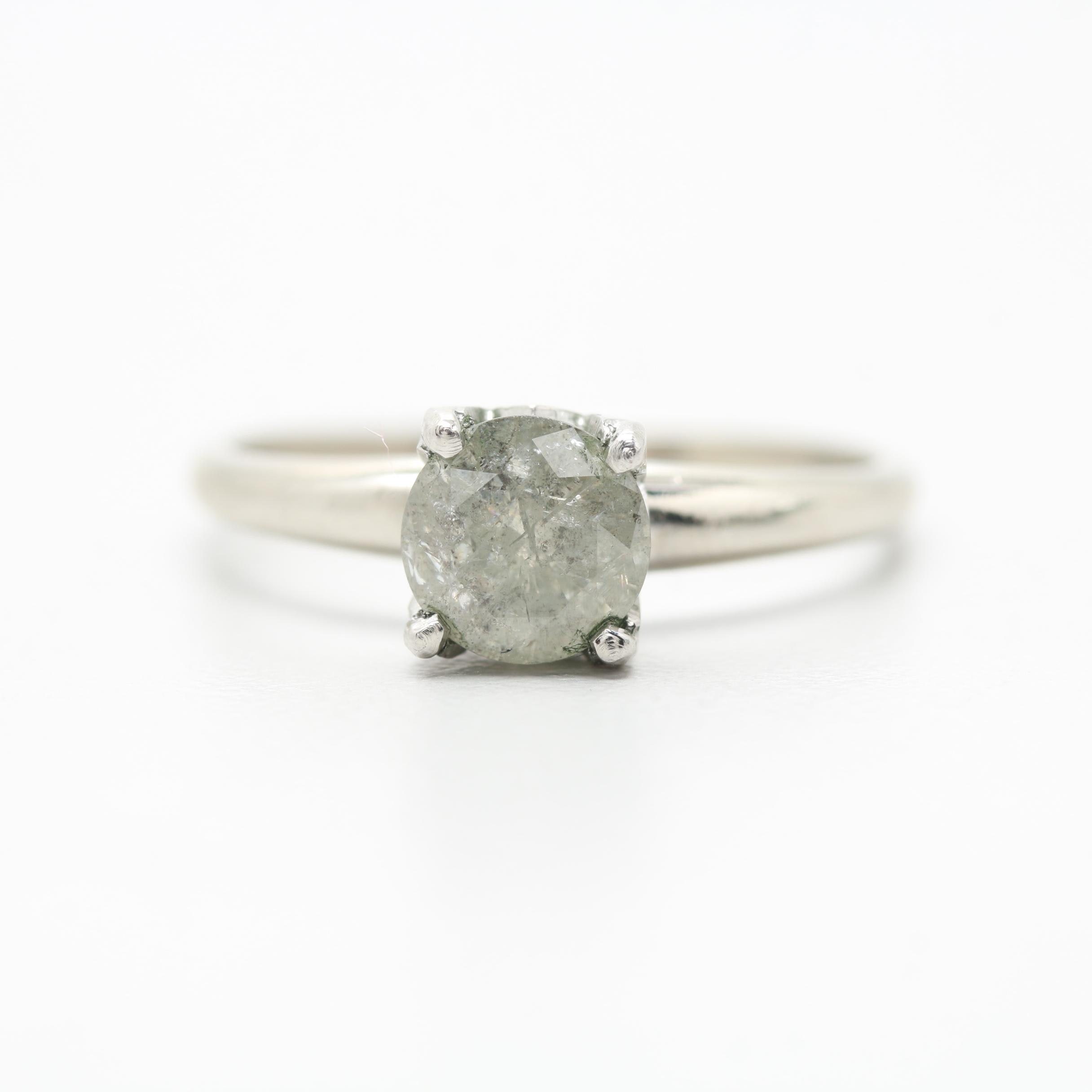 Platinum and 14K White Gold Diamond Ring