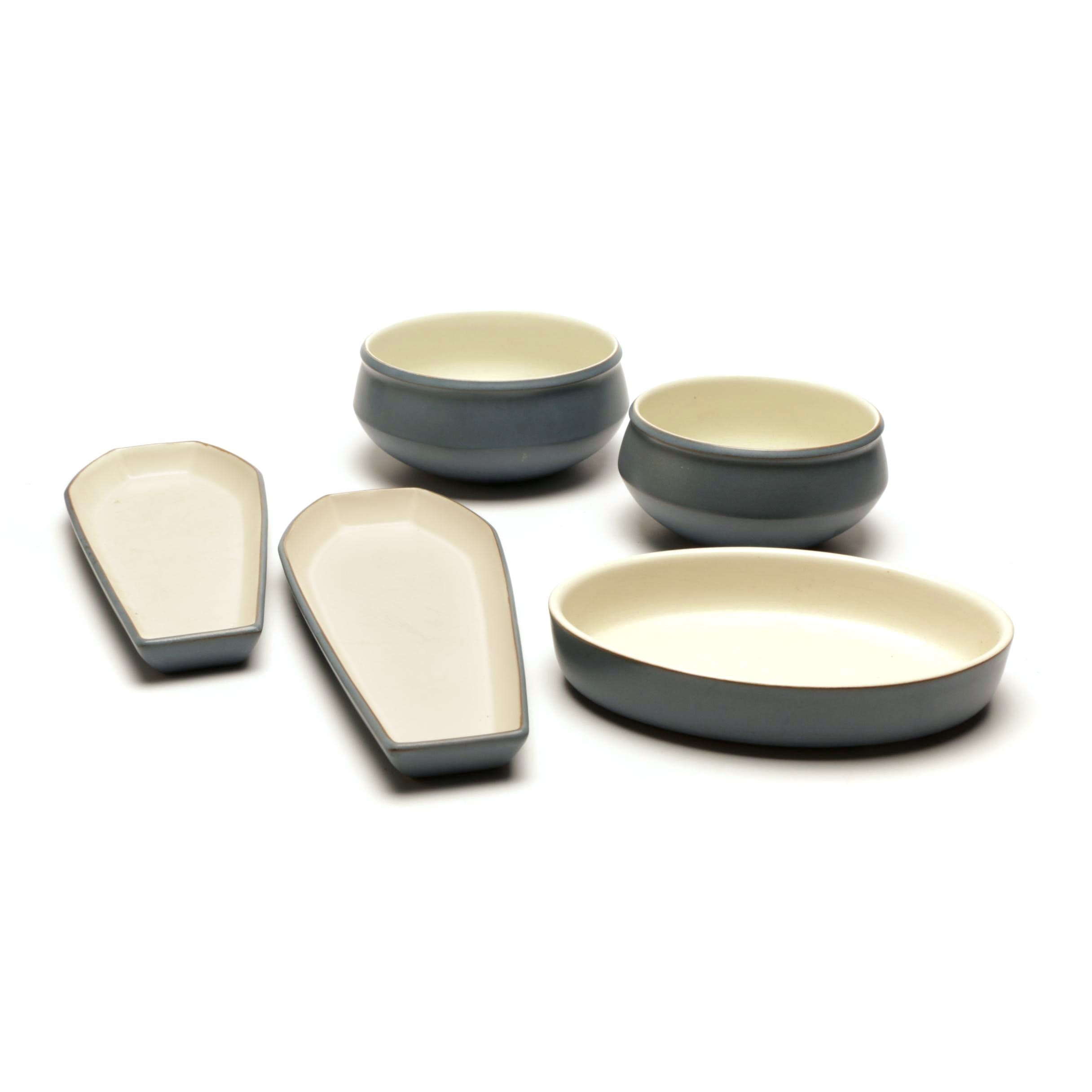 Vintage Denby 'Echo Blue' Stoneware Set