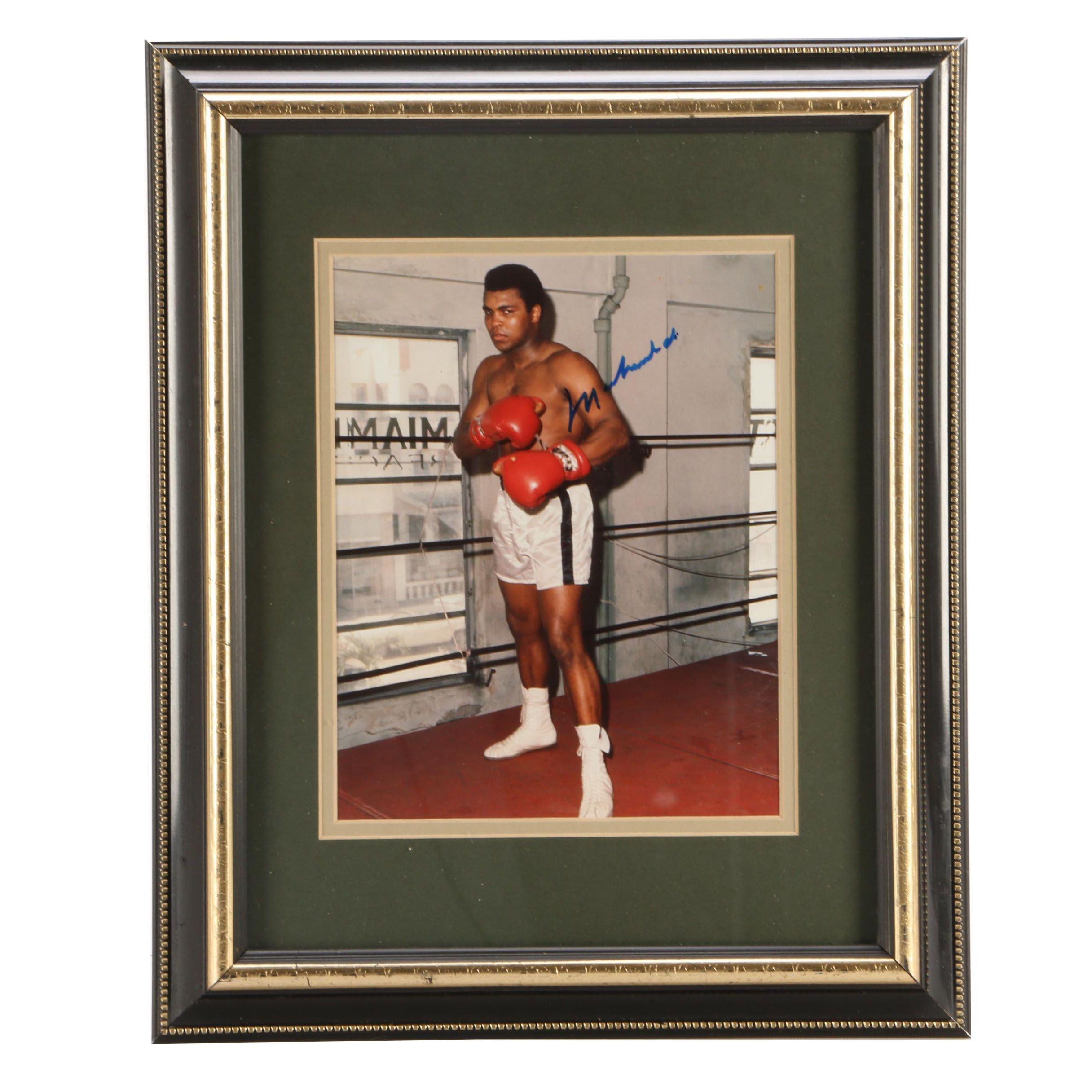 Muhammad Ali Signed Photo Print  COA
