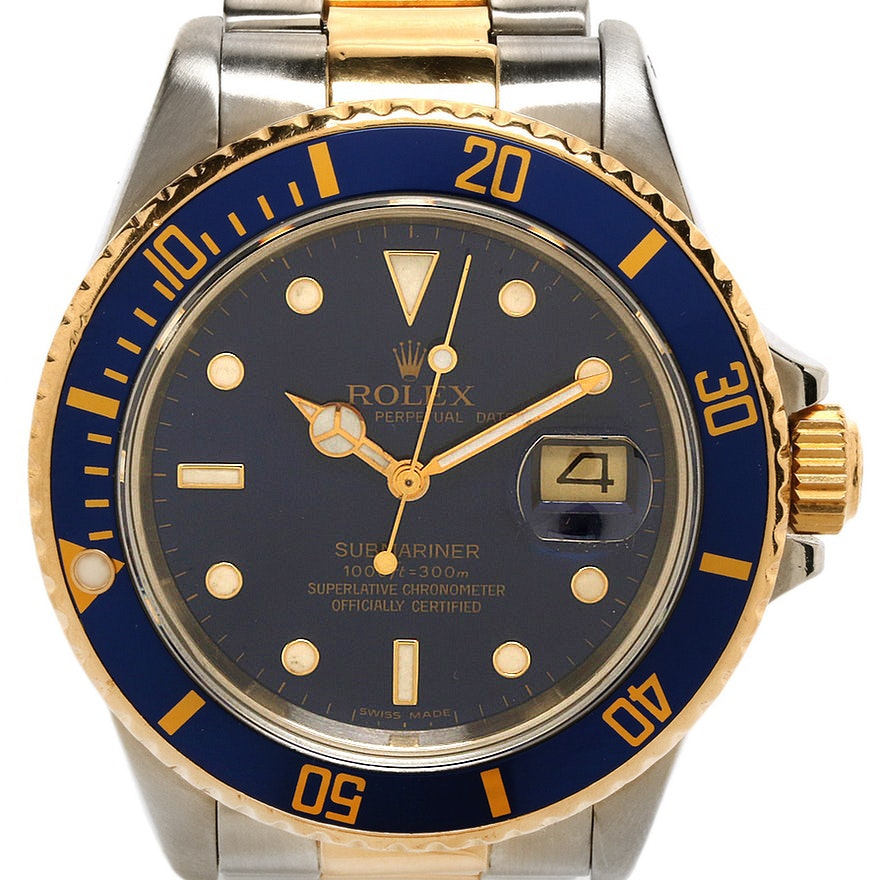 Rolex Submariner Stainless Steel and 18K Yellow Gold Wristwatch, 1987