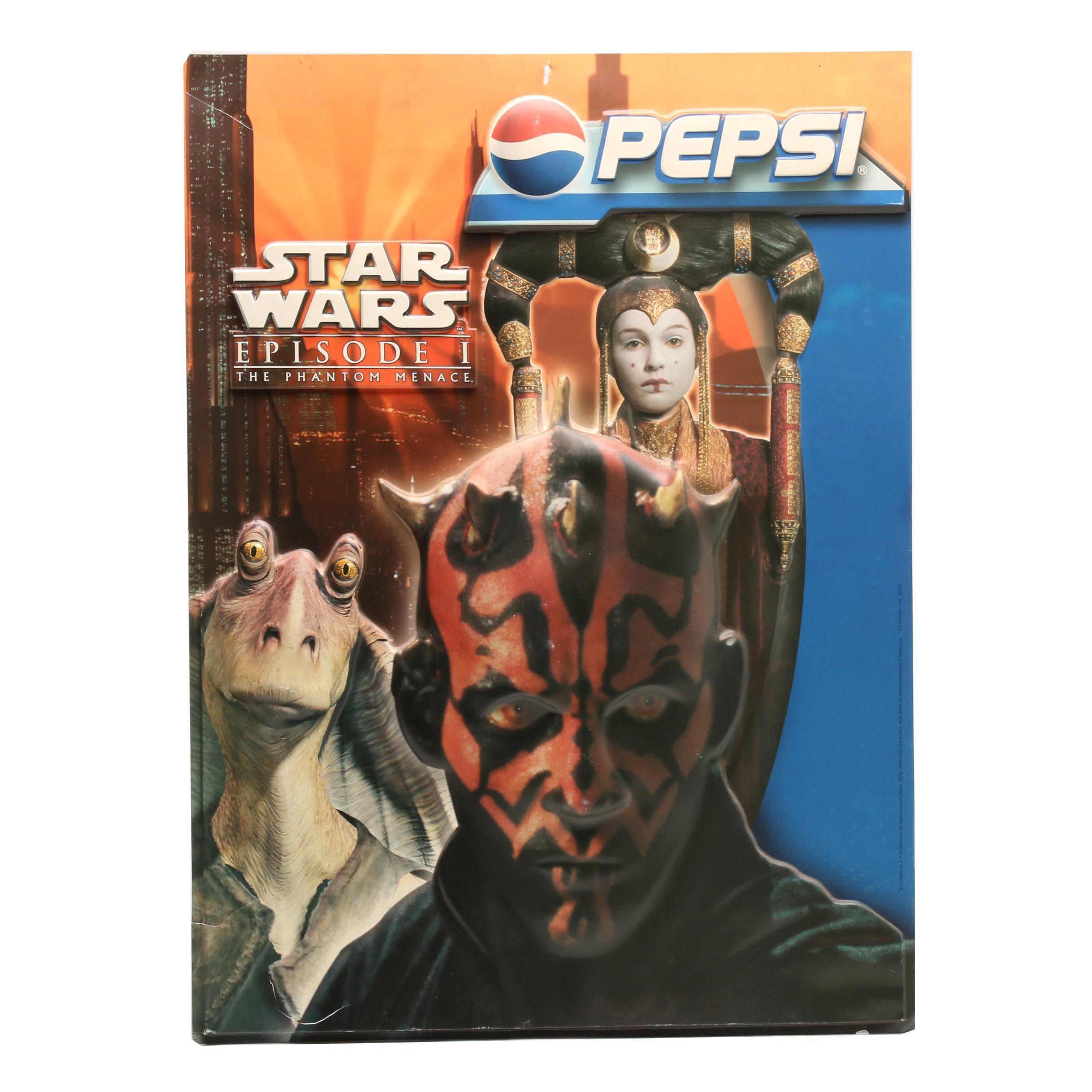 """Pepsi """"Star Wars: Phanom Menace"""" Advertising Poster"""