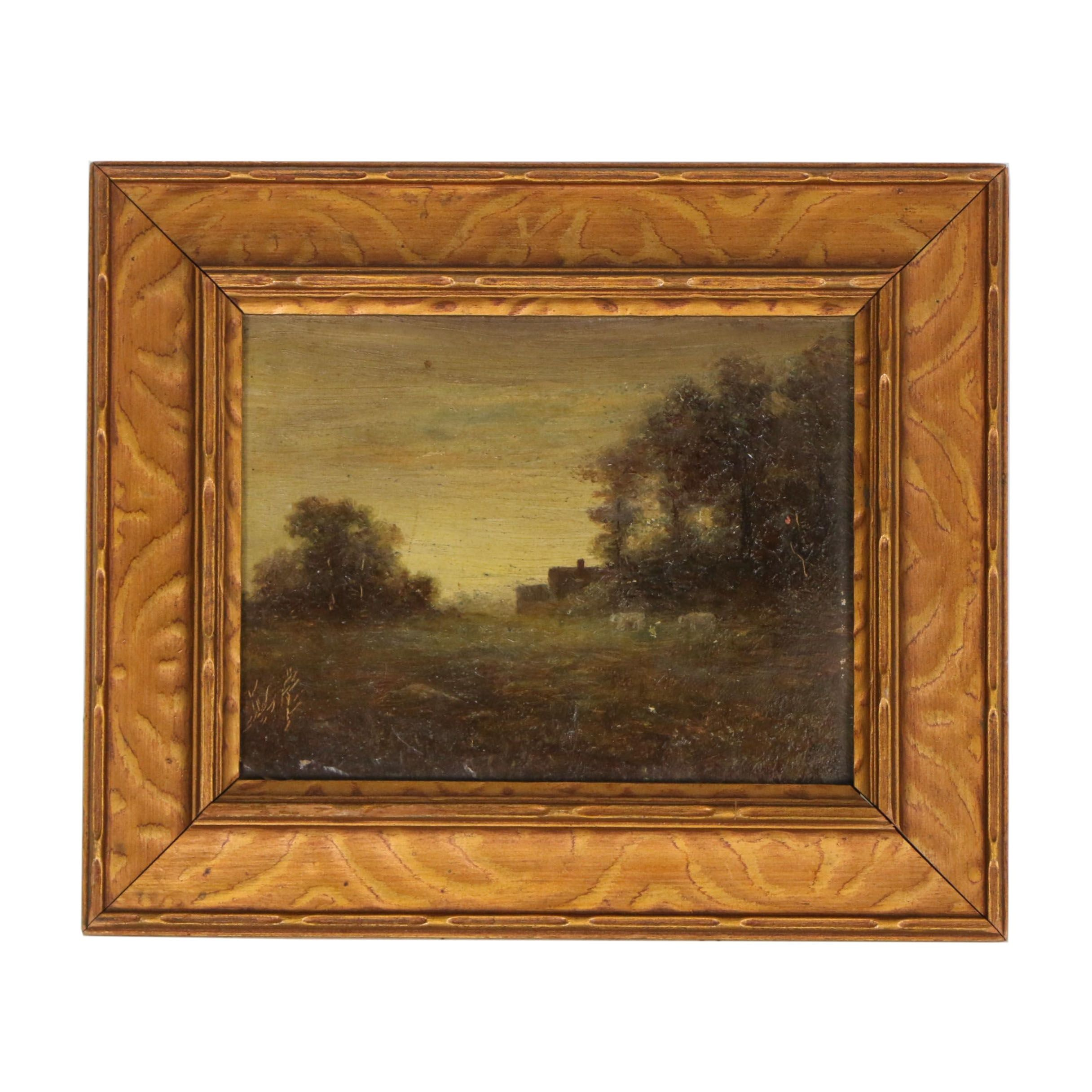 "J. Pliny McDonnell Oil Painting ""The Quiet Hour"""