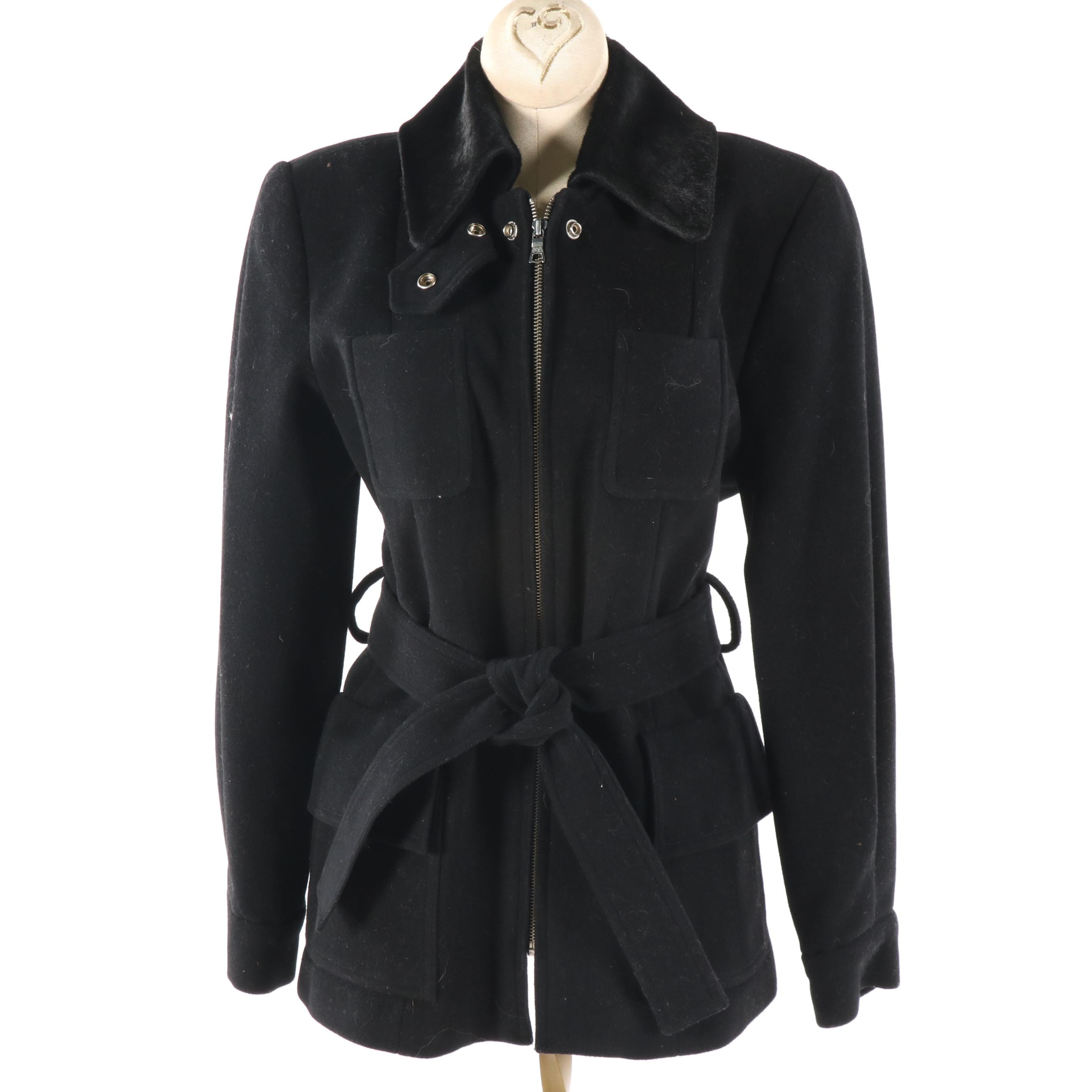 Women's Banana Republic Black Wool Blend Jacket