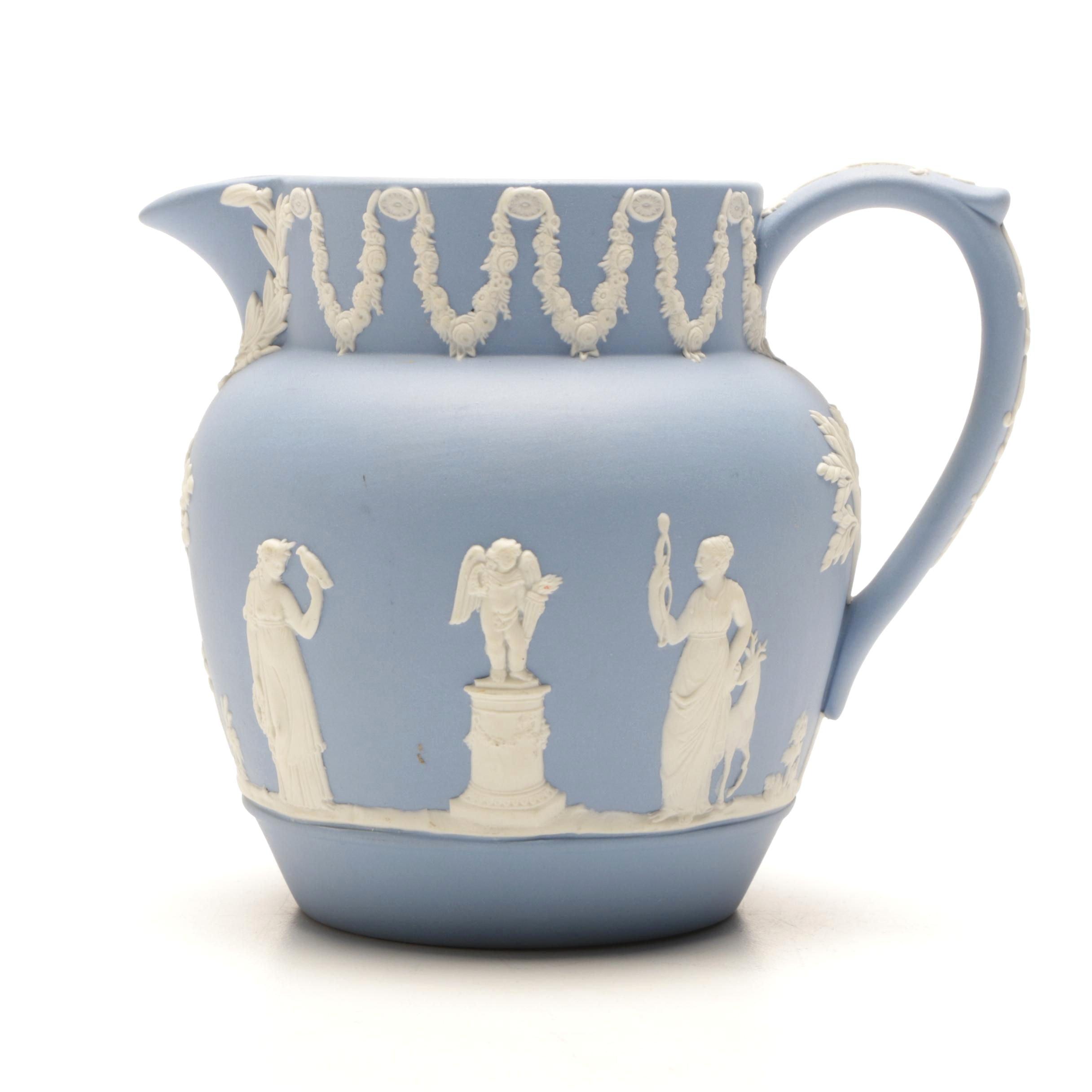 Wedgwood Blue Jasperware Cream Jug