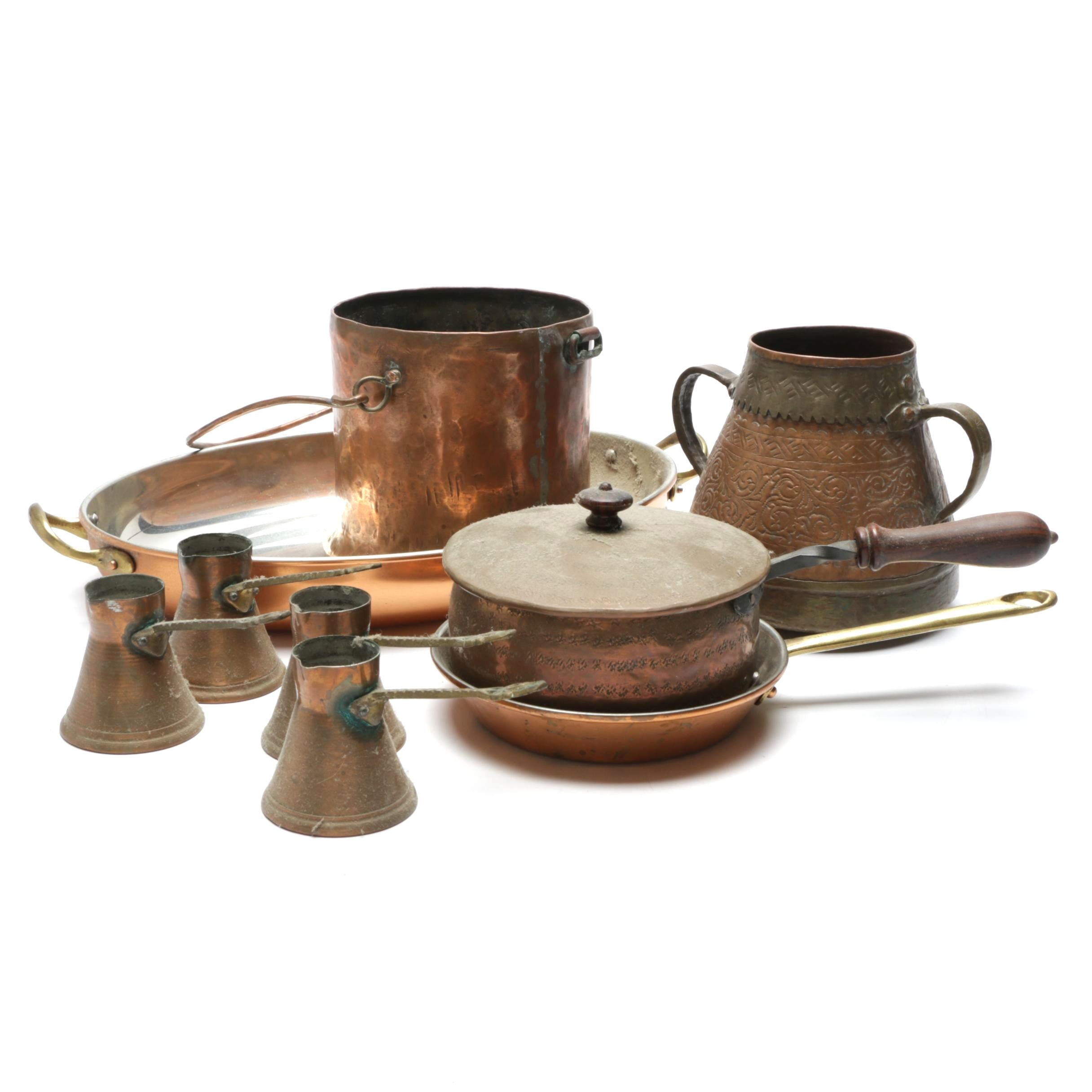Copper and Brass Cookware Including Copral