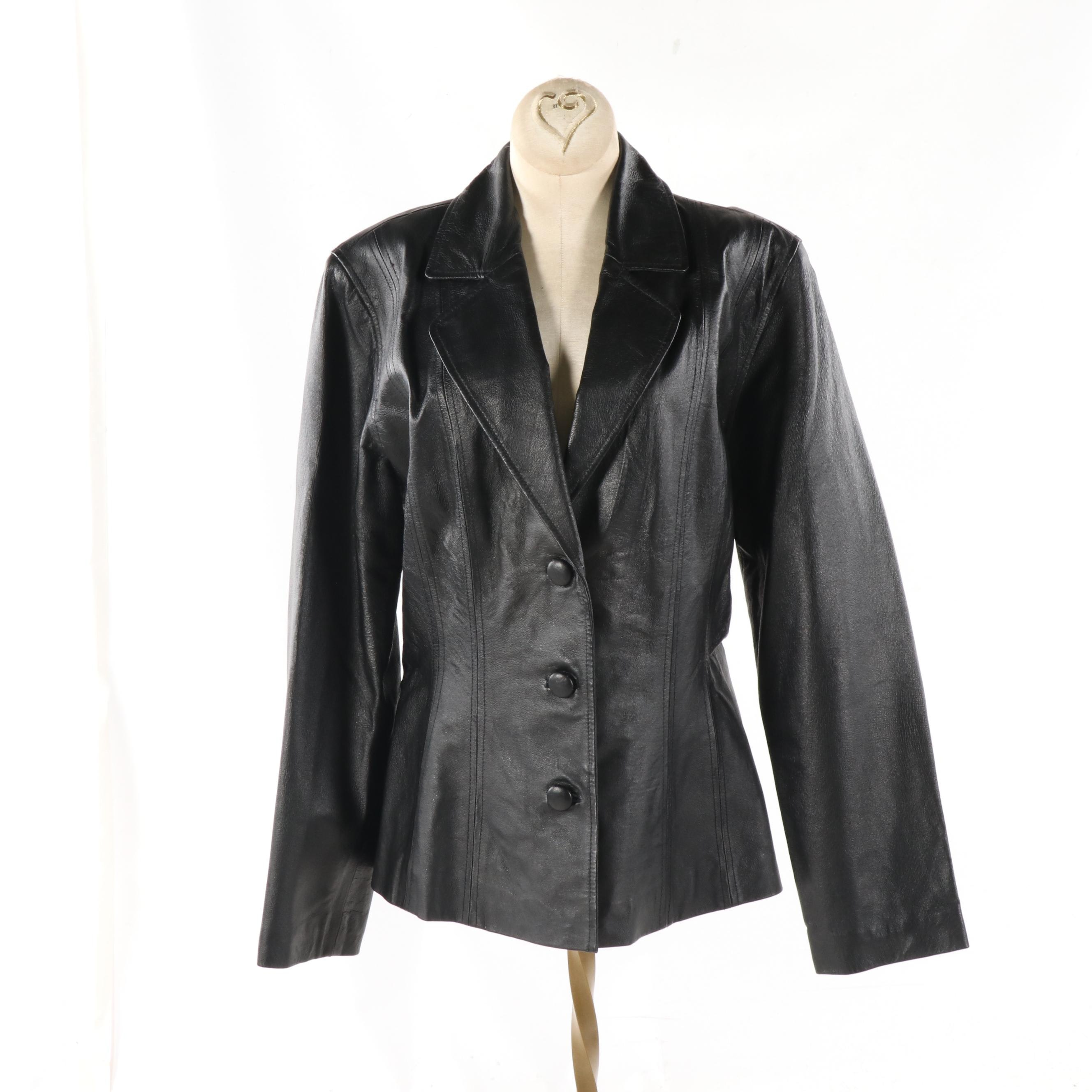 Women's Tower Hill Collection Black Leather Jacket