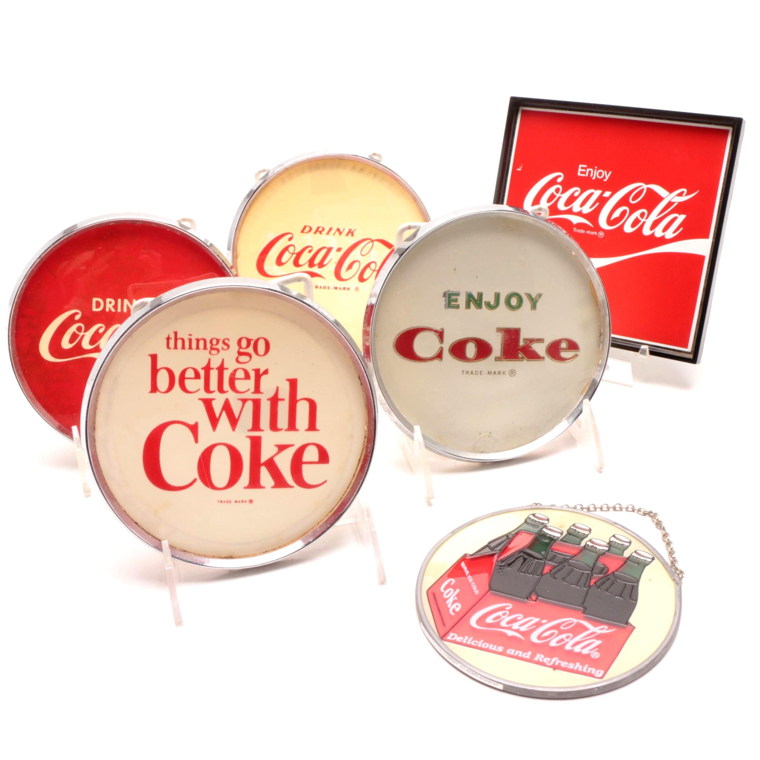Coca-Cola Brand Signage and Sun Catcher