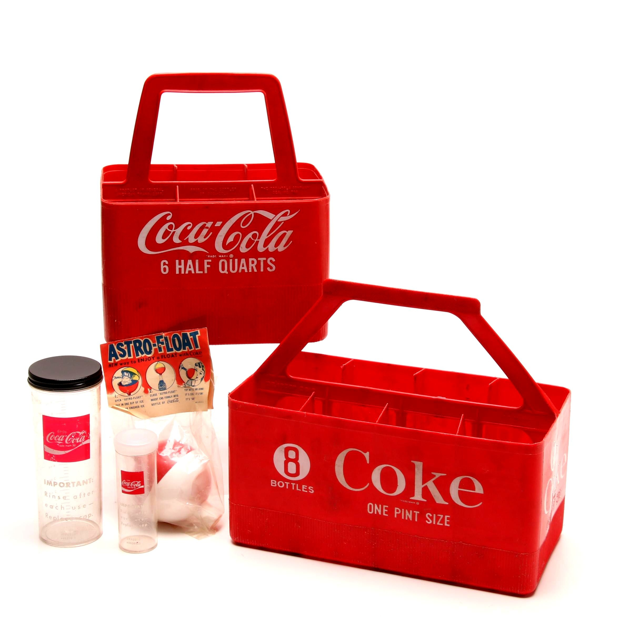 Coca-Cola Plastic Carriers and Astro-Float