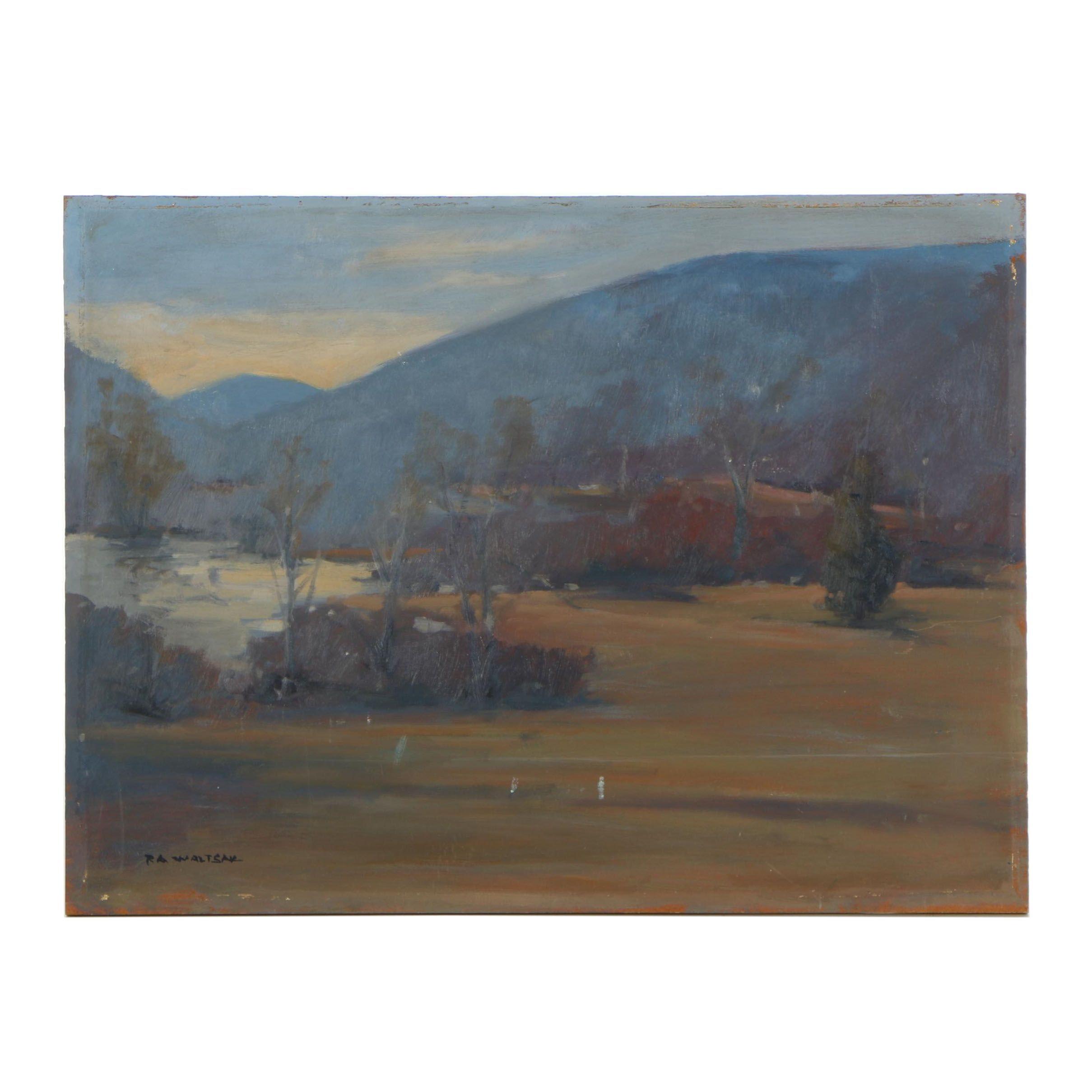 Robert A. Waltsak Landscape Oil Painting
