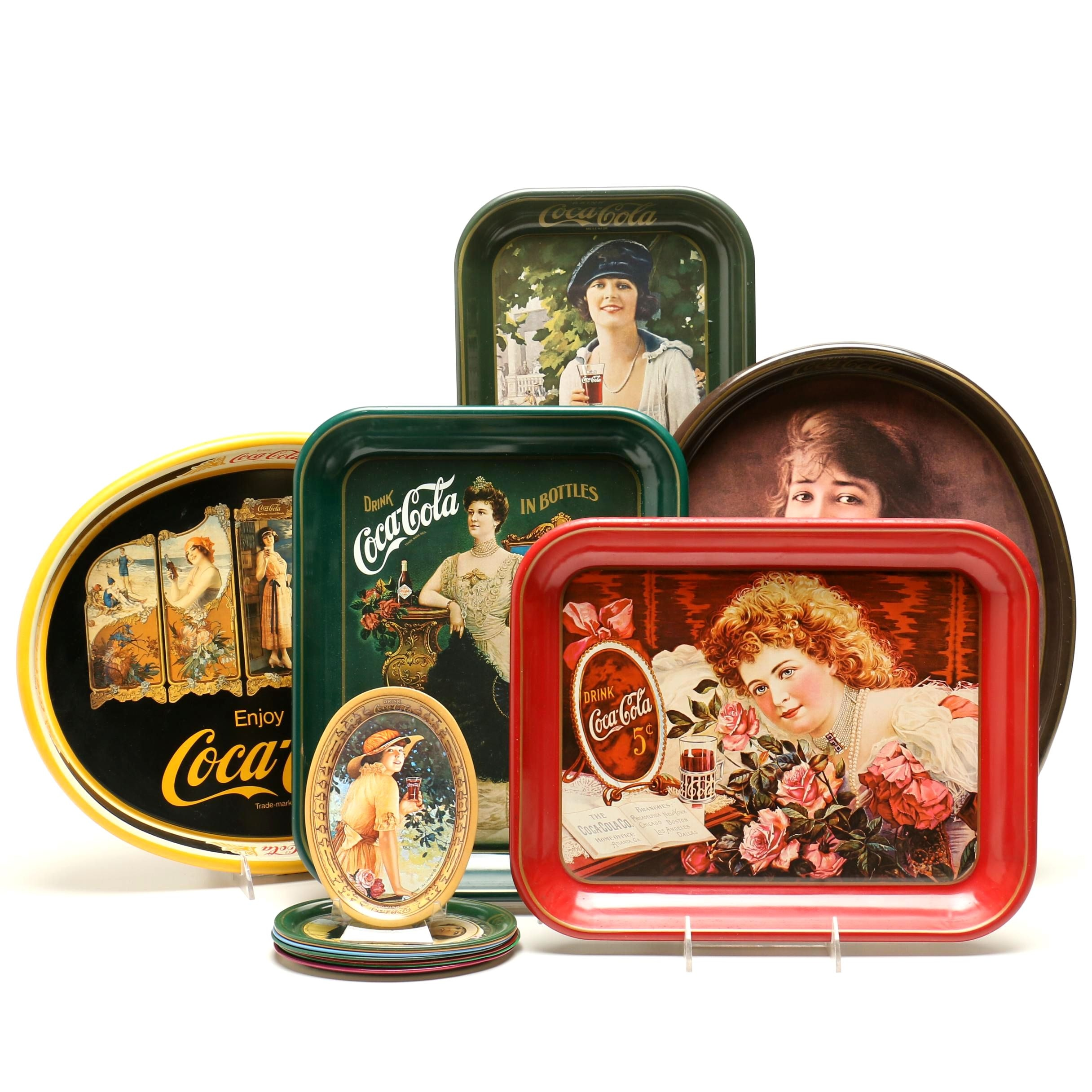 Coca-Cola Tin Serving Trays from the 1970s-80s
