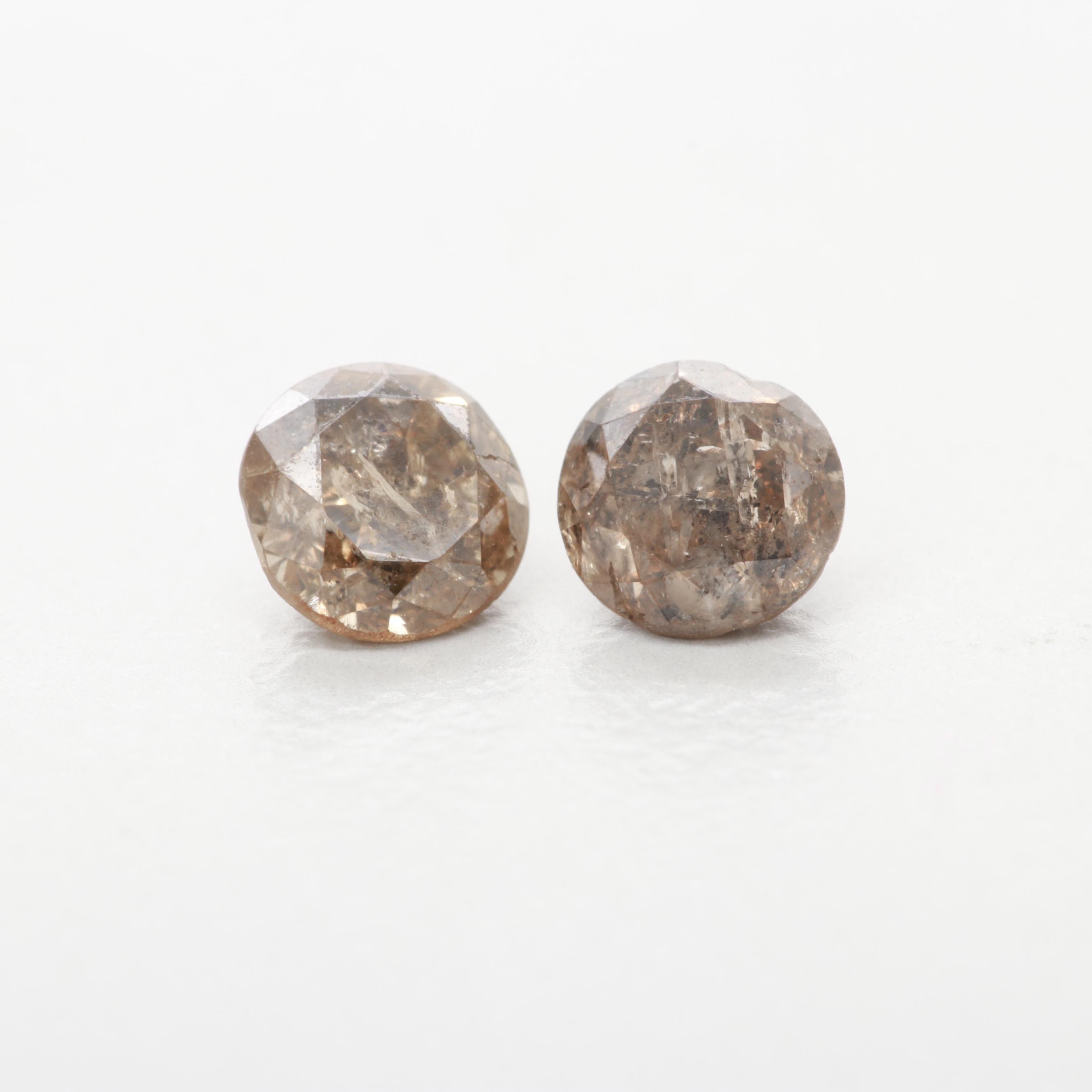 Loose 0.85 CTW Brown Diamond Gemstones