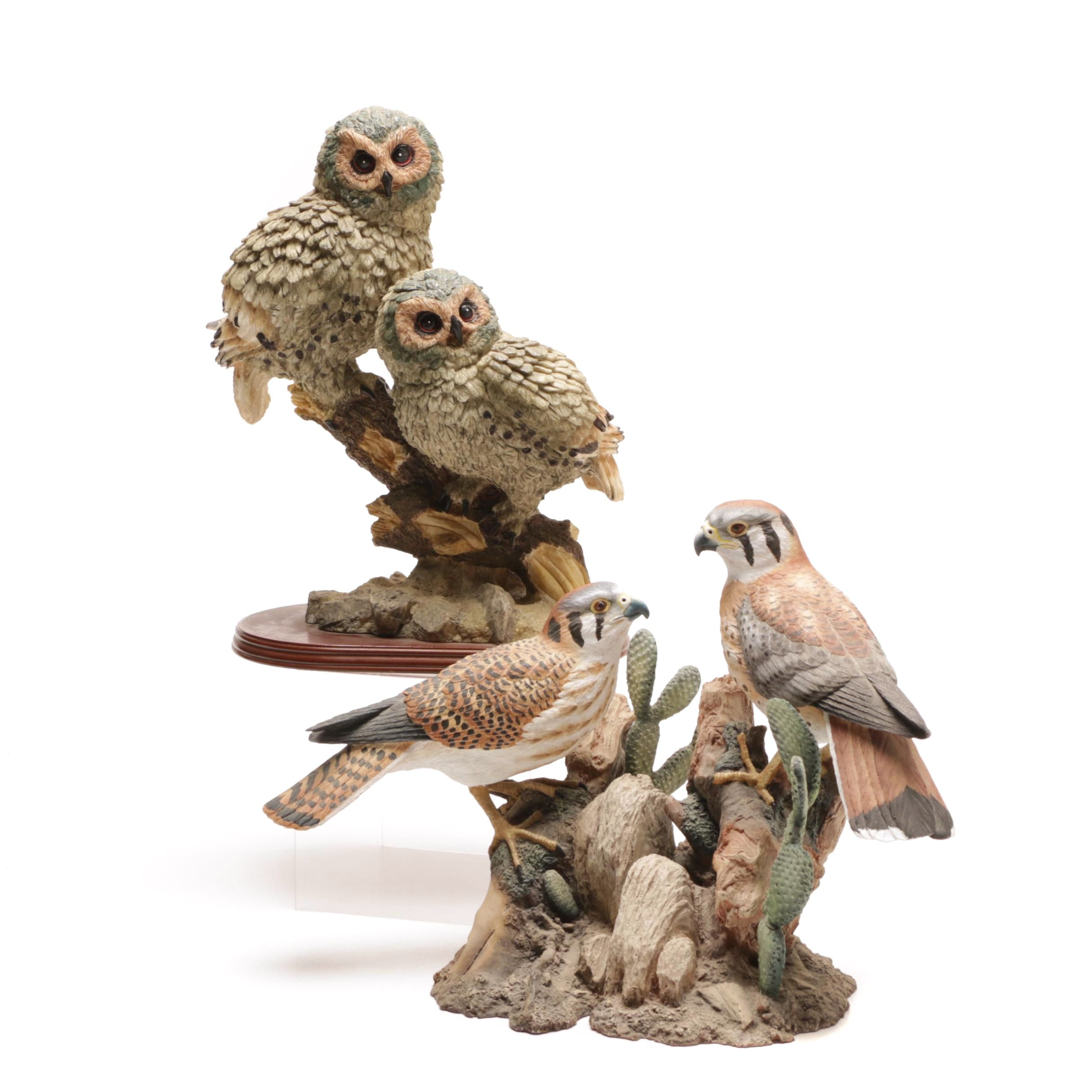 Birds of Prey Sculpture and Bookends