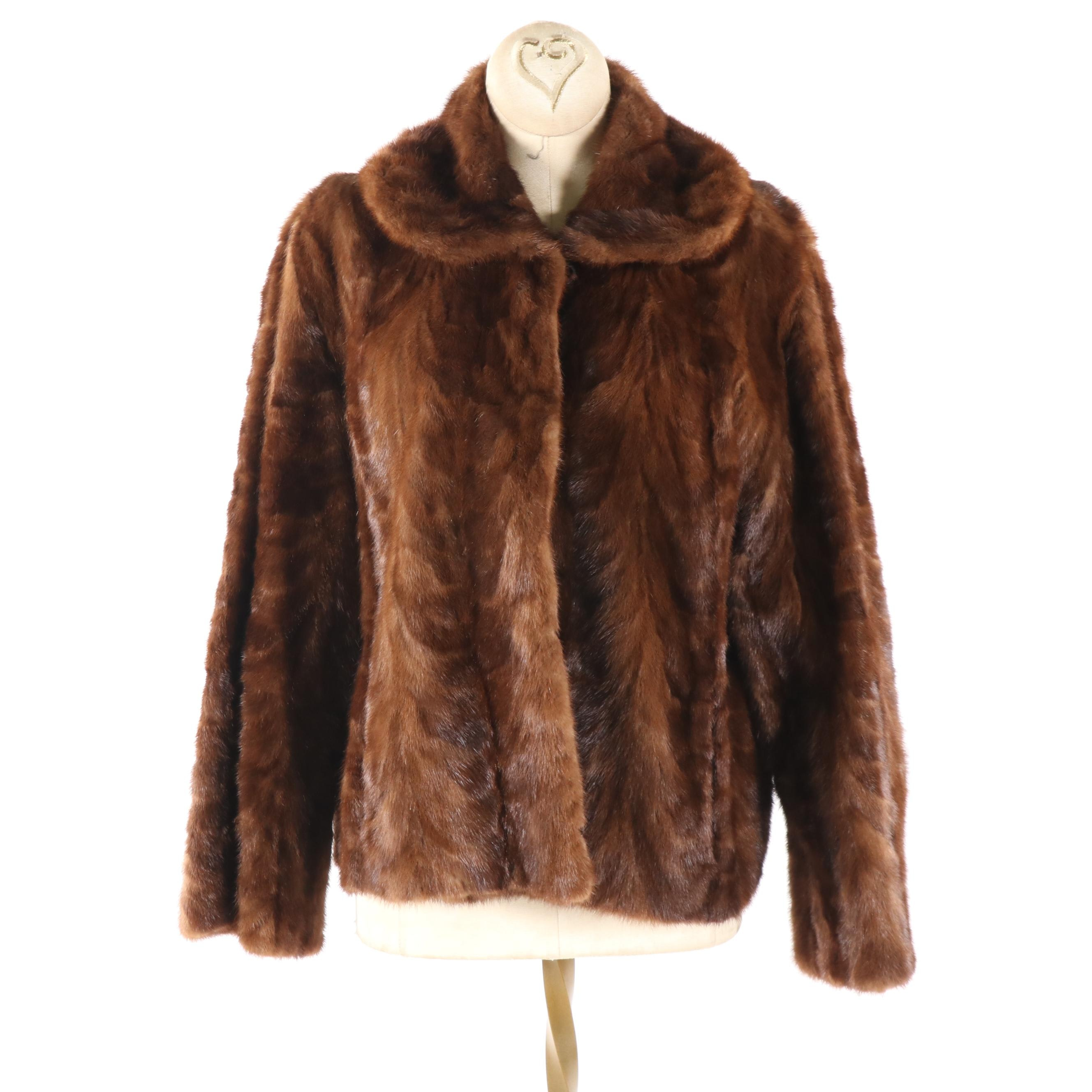 Women's Vintage State Fur Co. Mink Paw Fur Jacket