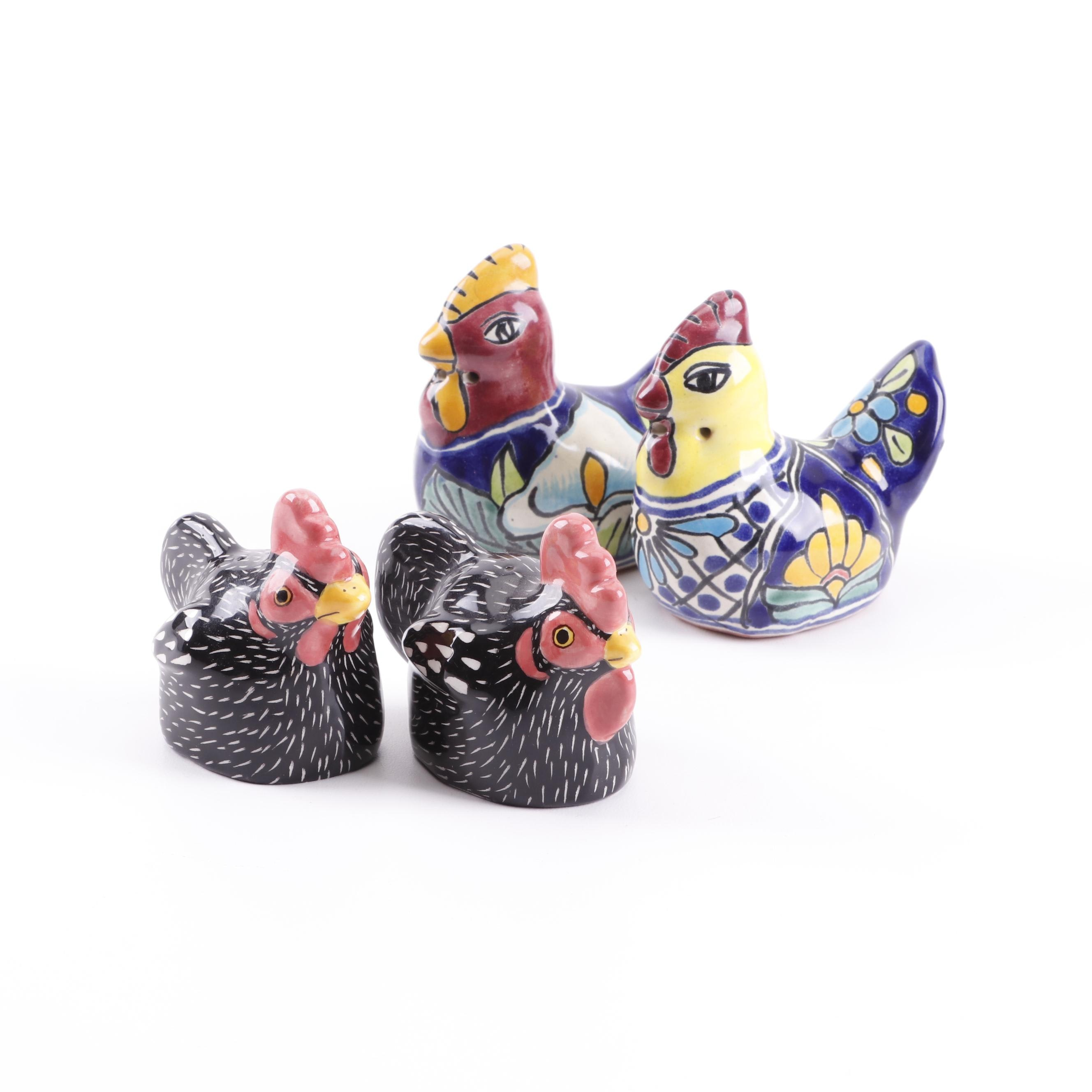 Hand-Painted Hen Salt and Pepper Shakers featuring Vazquez