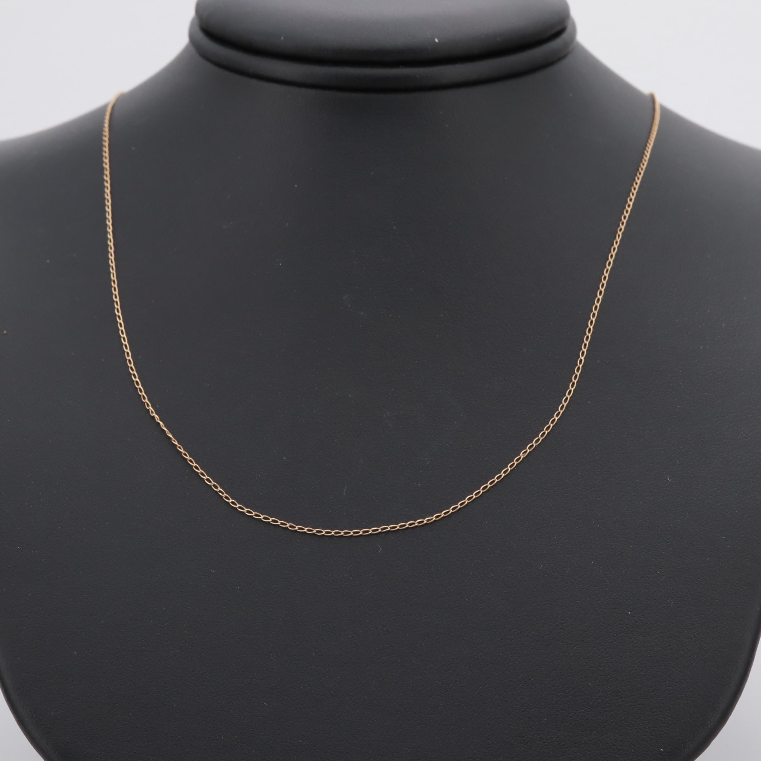 14K Yellow Gold Cable Chain Necklace