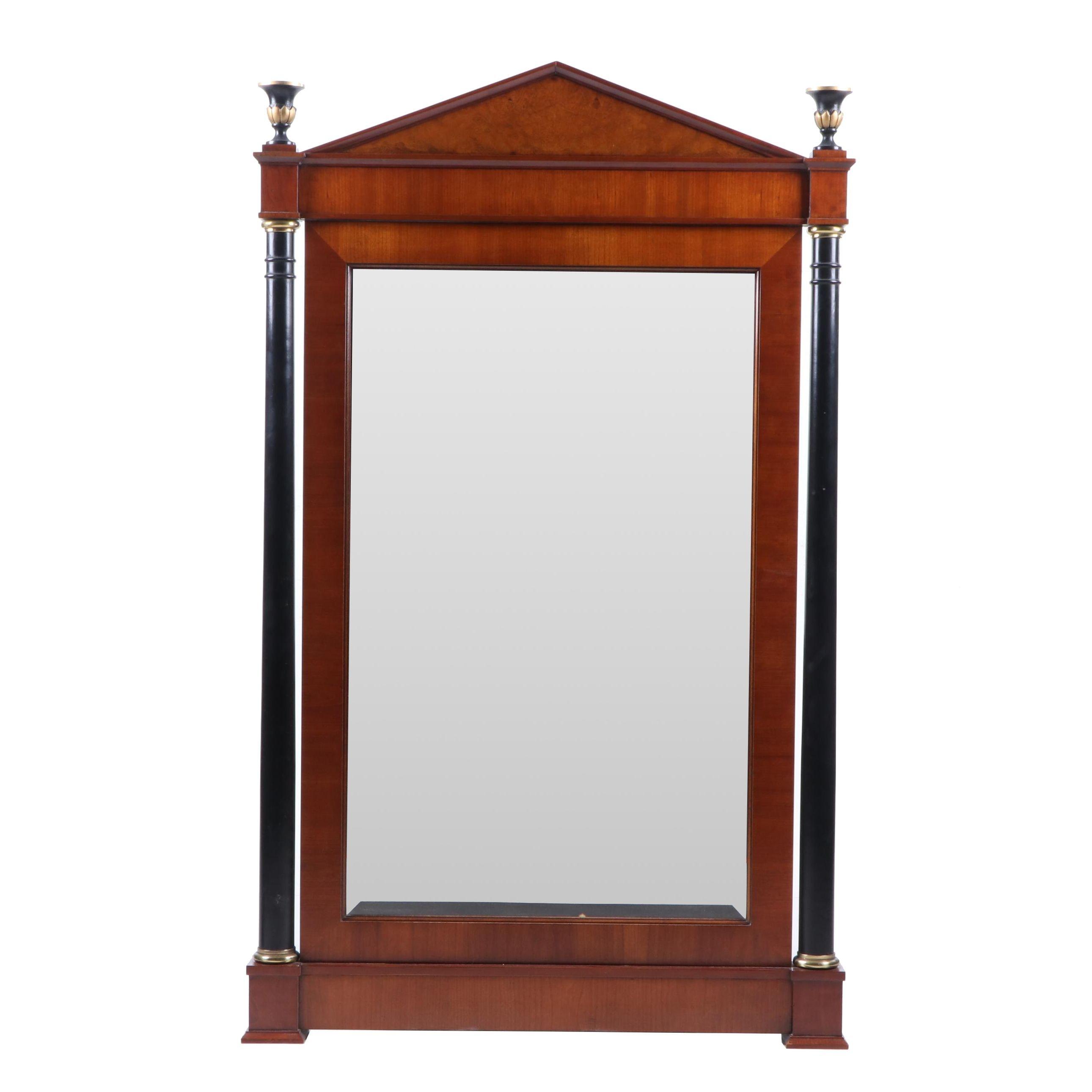 Biedermeier Style Fruitwood Wall Mirror by Baker