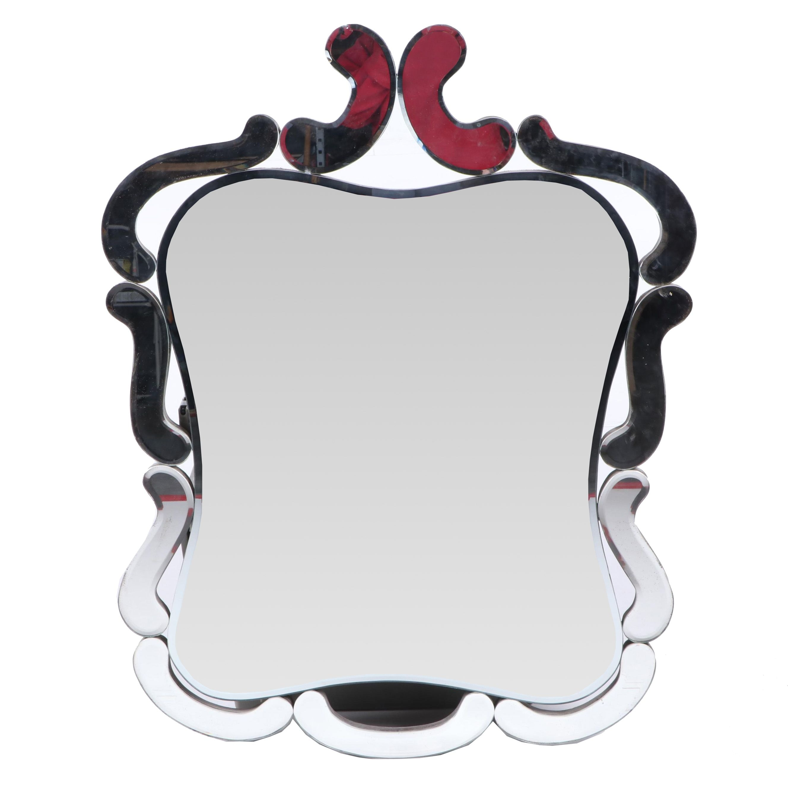 Decorative Wall Mirror with Cutout Frame