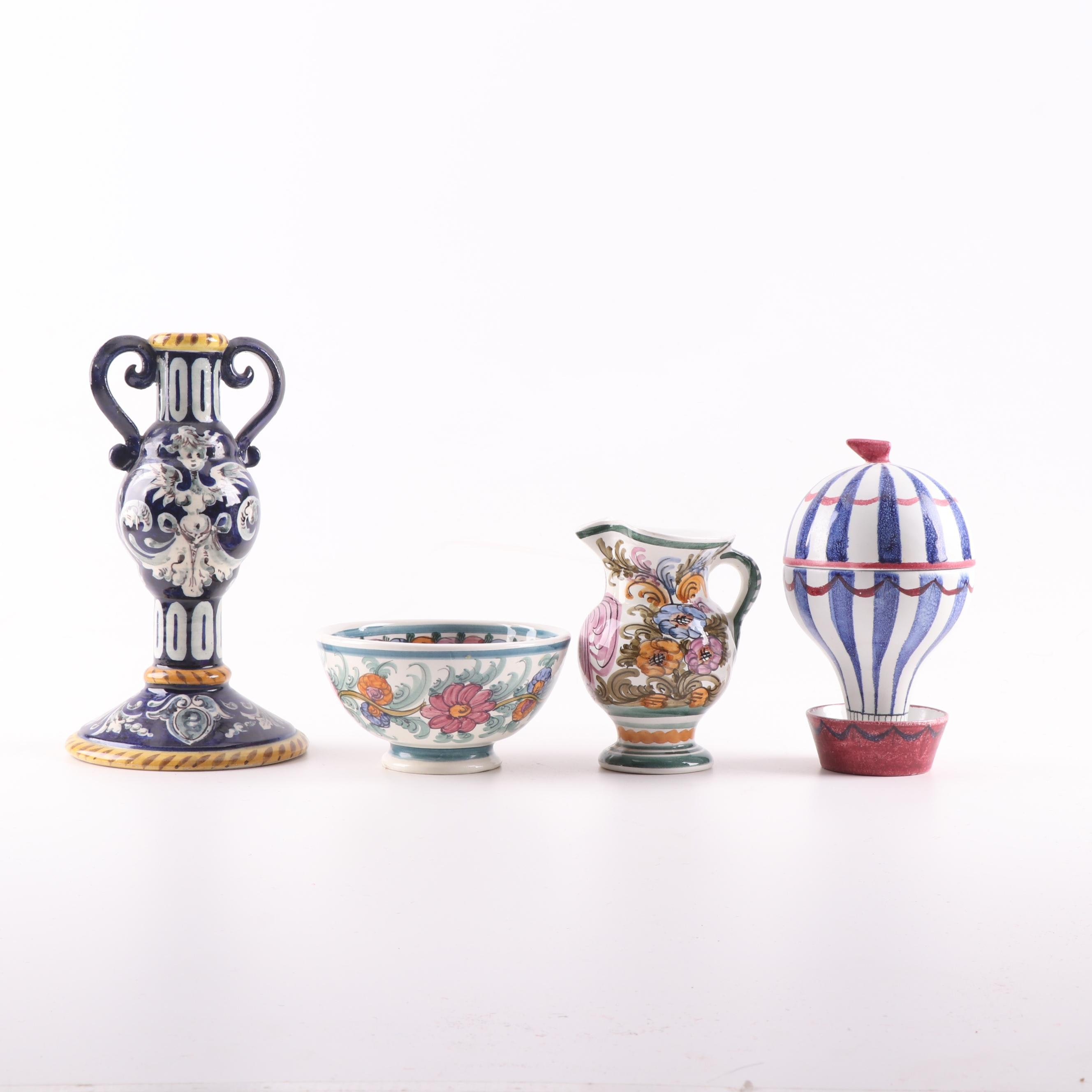 Hand-Painted Greek and Italian Pottery