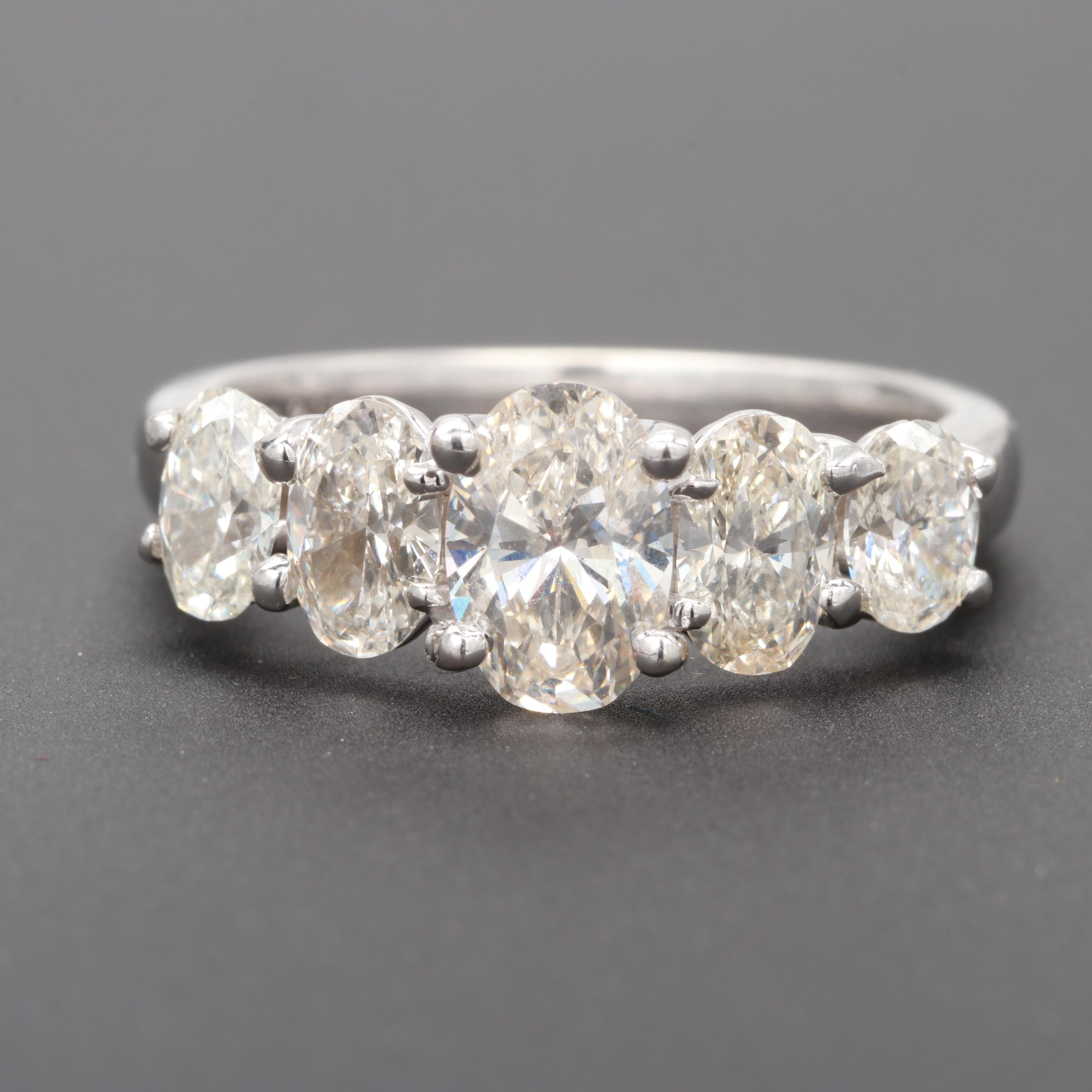 18K White Gold 2.23 CTW Diamond Ring