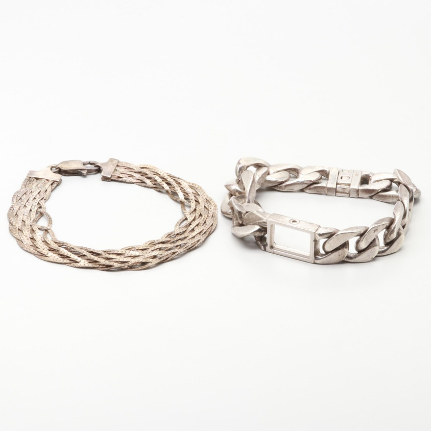 1cda0024e Sterling Silver Bracelets Including Burberry : EBTH