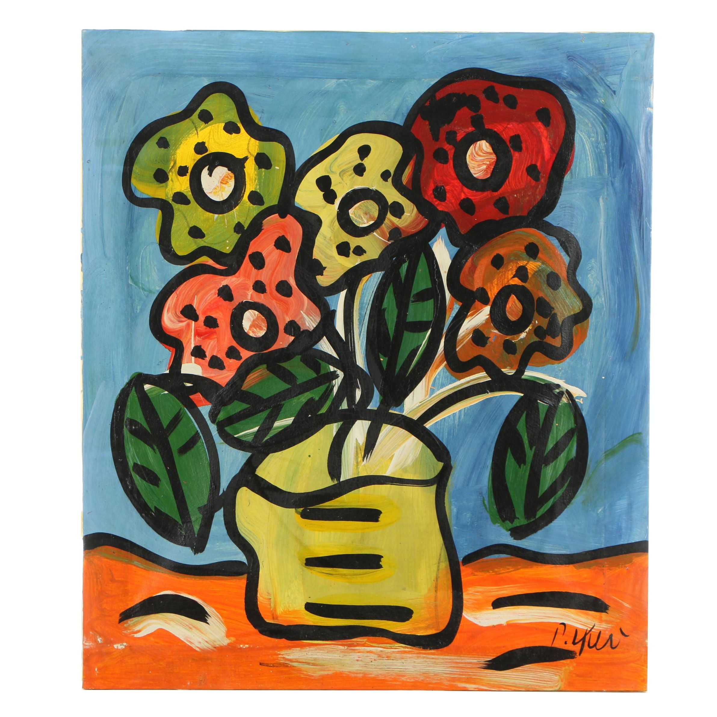 Peter Keil Abstract Acrylic Still Life Painting