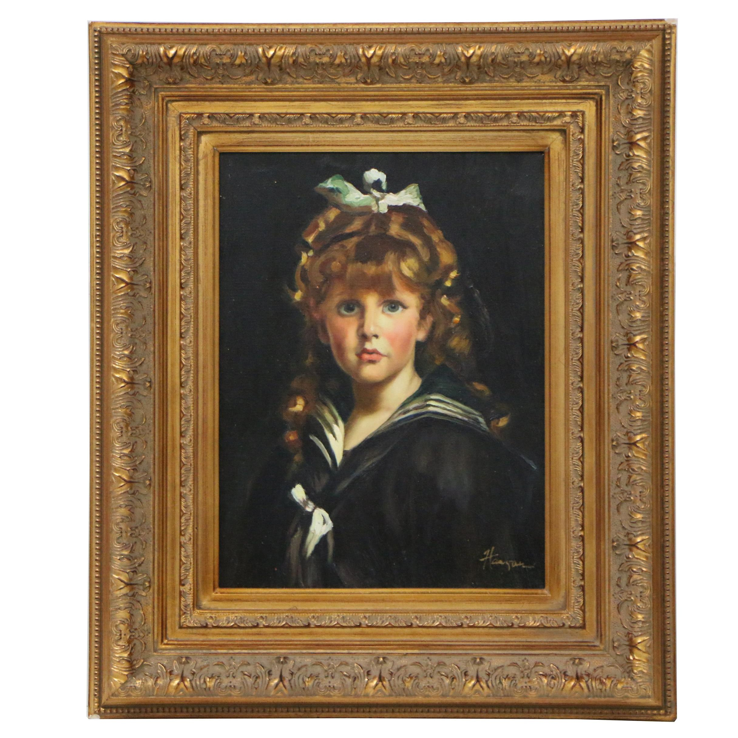 Young Lady Oil Portrait Painting