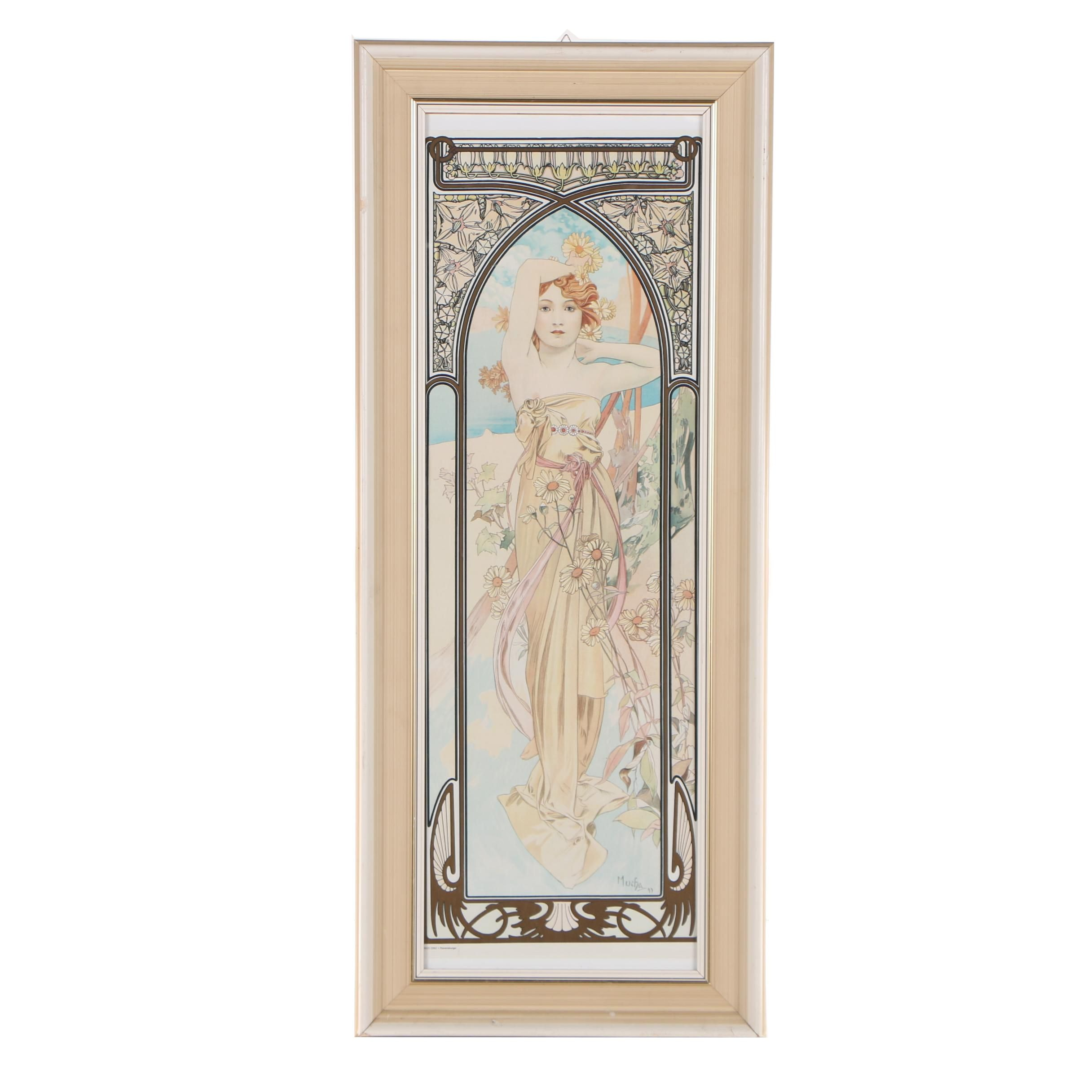 Offset Lithograph after Alphonse Maria Mucha