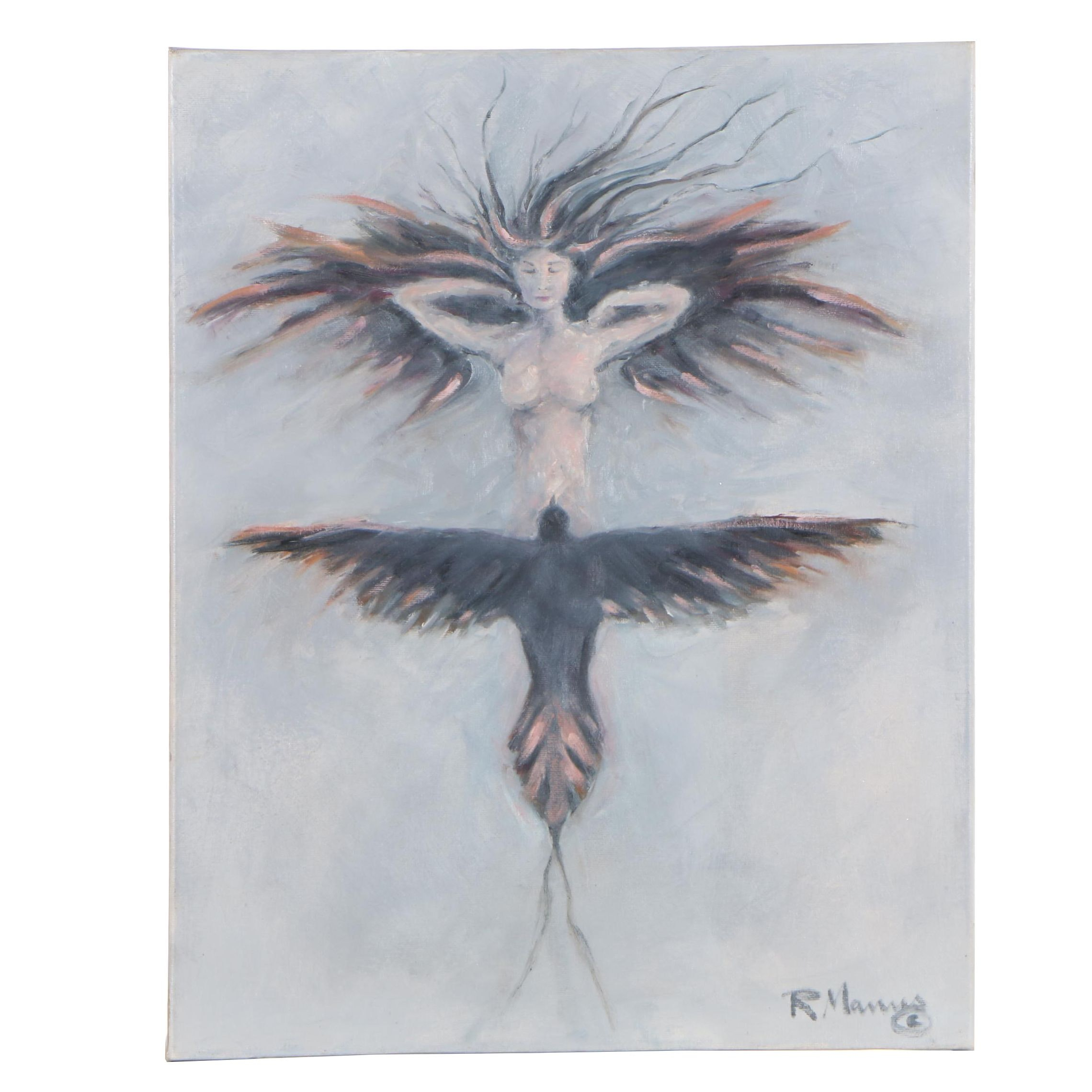 "Rebecca Manns 2018 Oil Painting ""Free Bird"""