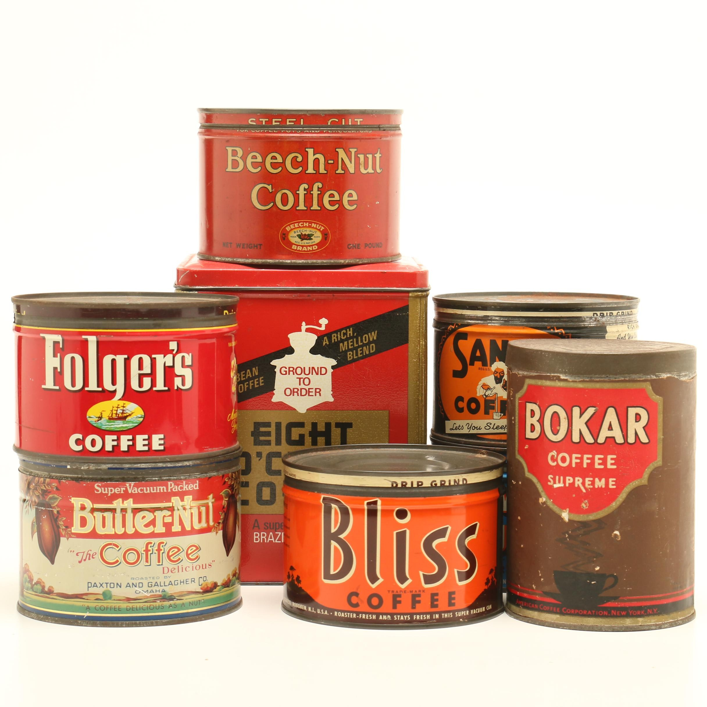 1940s-1950s Coffee Advertising Tins