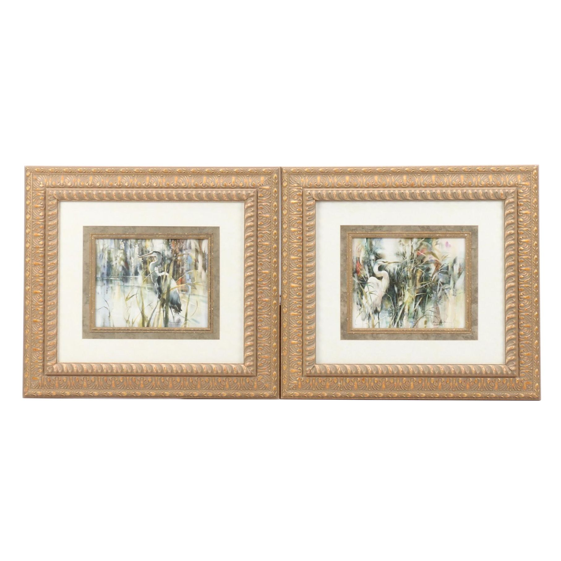 """Offset Lithographs after Brent Heighton """"Silent Vigil"""" and """"Keeper of the Pond"""""""