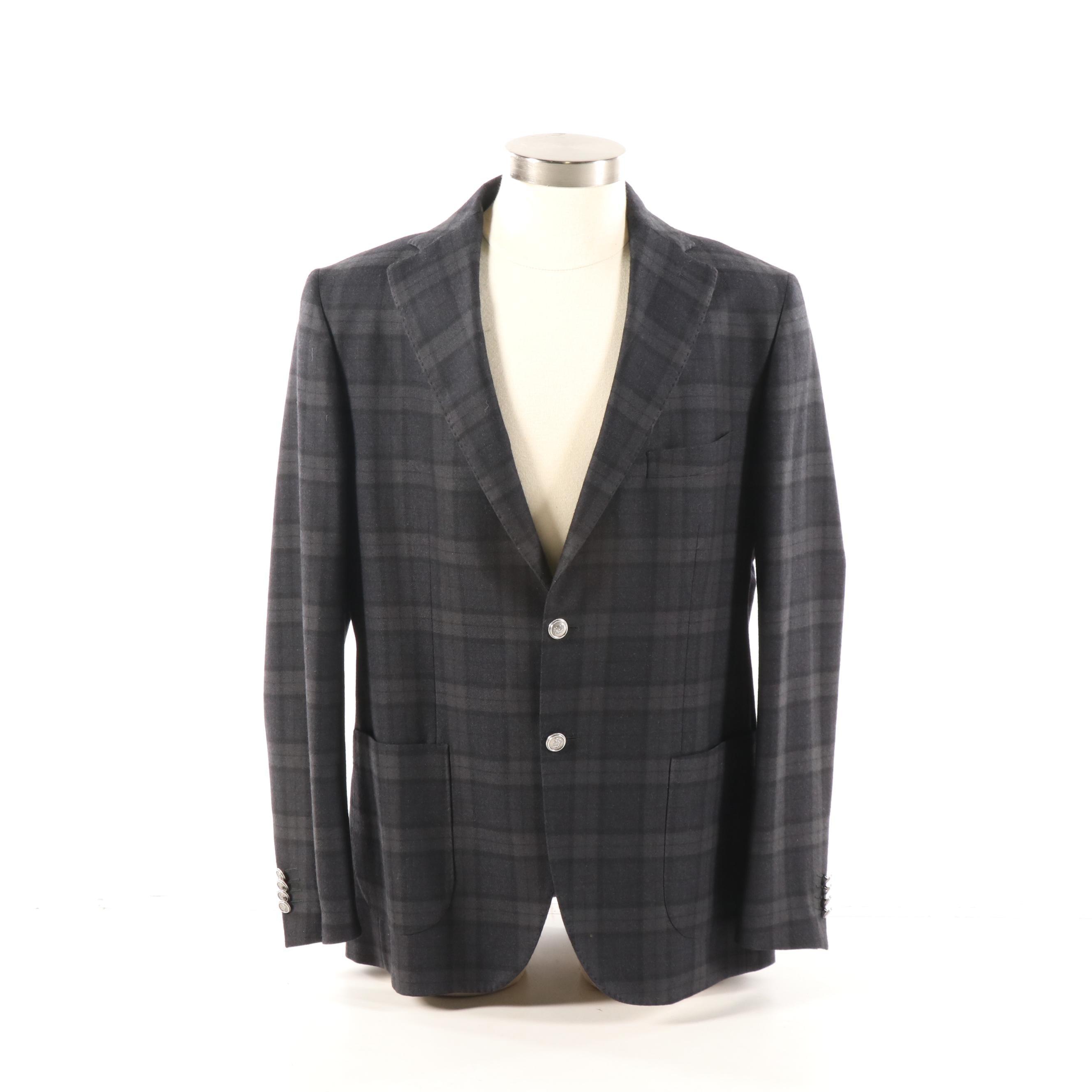 Men's Boggi Milano Plaid Blazer, Made in Italy