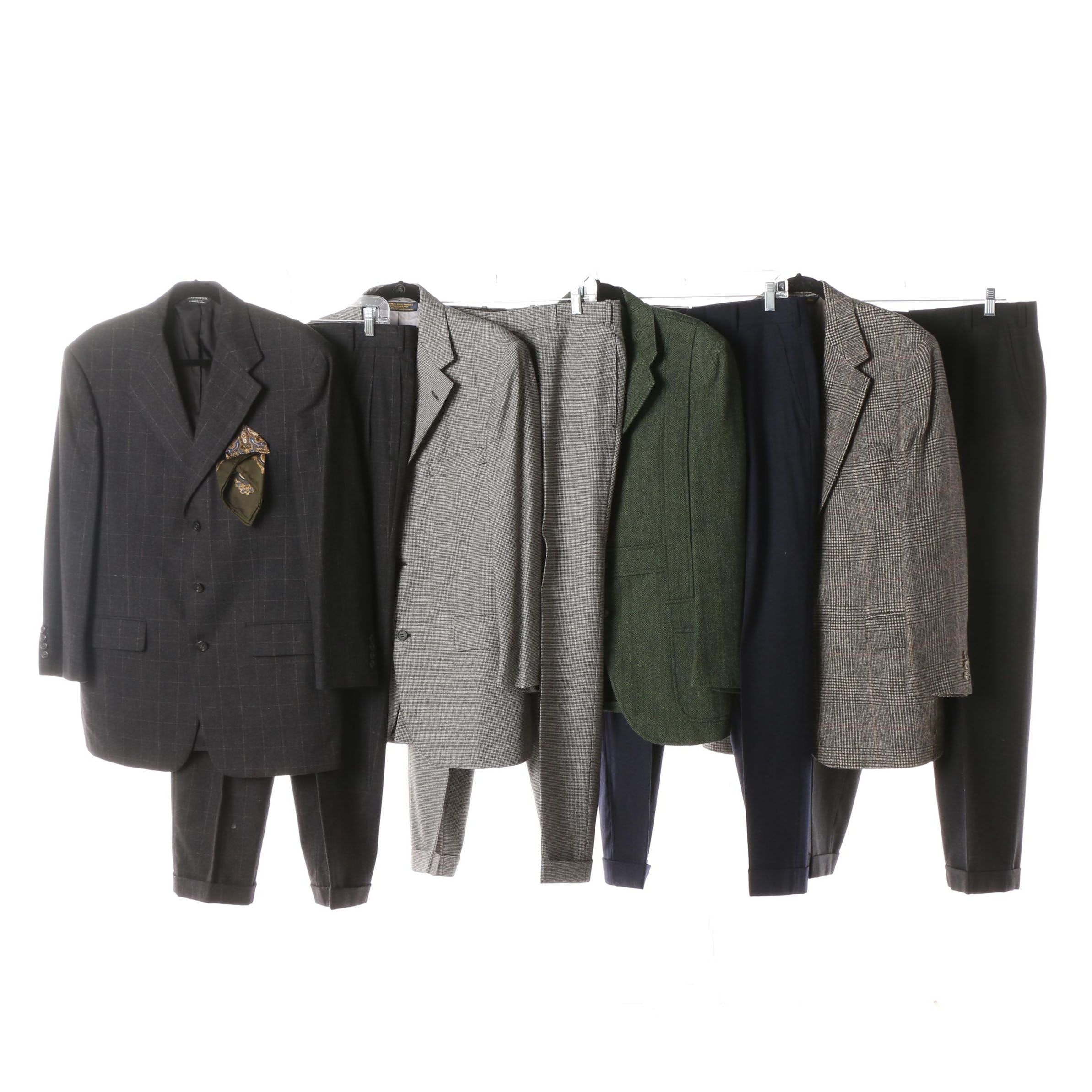 Men's Brooks Brothers and other Wool Suit Separates including Camel Hair