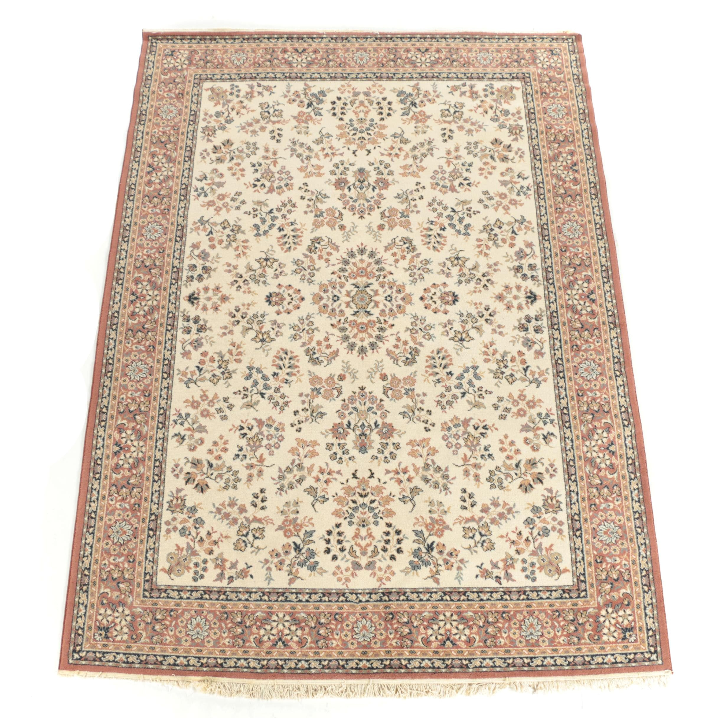 Power-Loomed Persian Style Floral Area Rug
