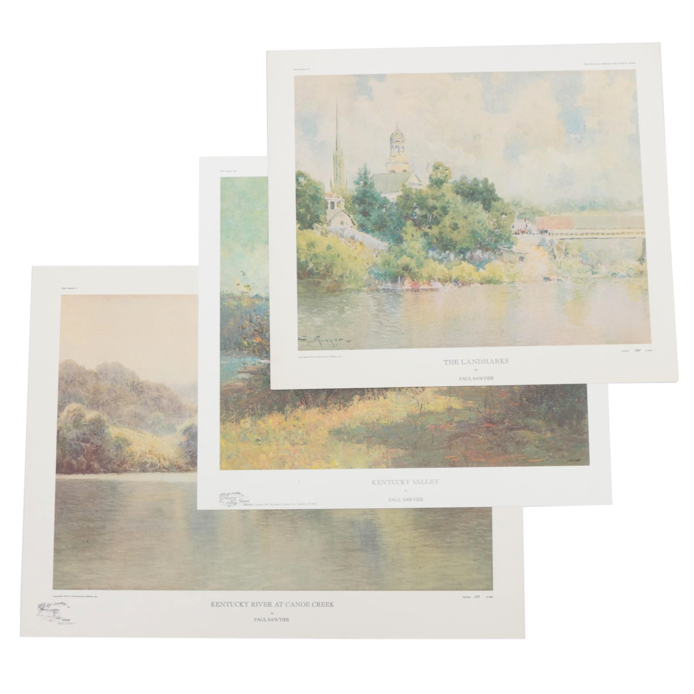 Limited Edition Offset Lithographic Reproductions after Paul Sawyier Paintings