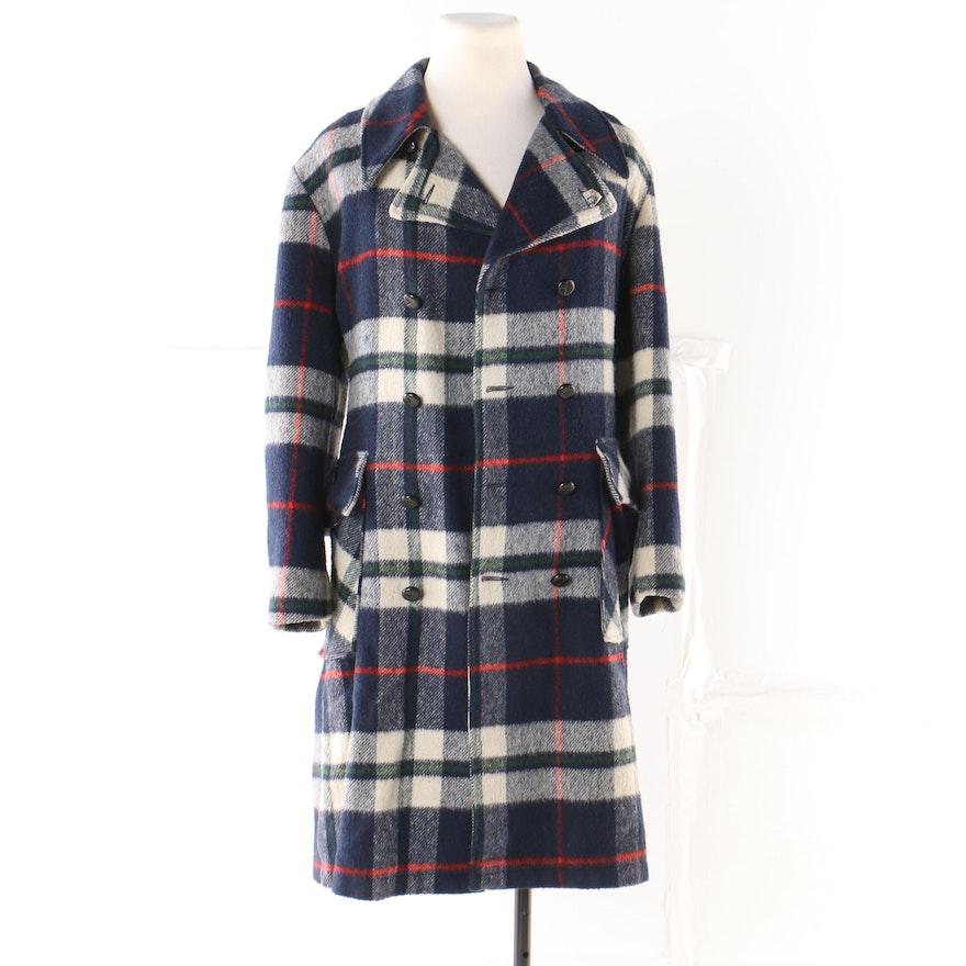 8d19ac6c0c28 Men s Vintage Sears Put-On Shop Double-Breasted Plaid Coat   EBTH