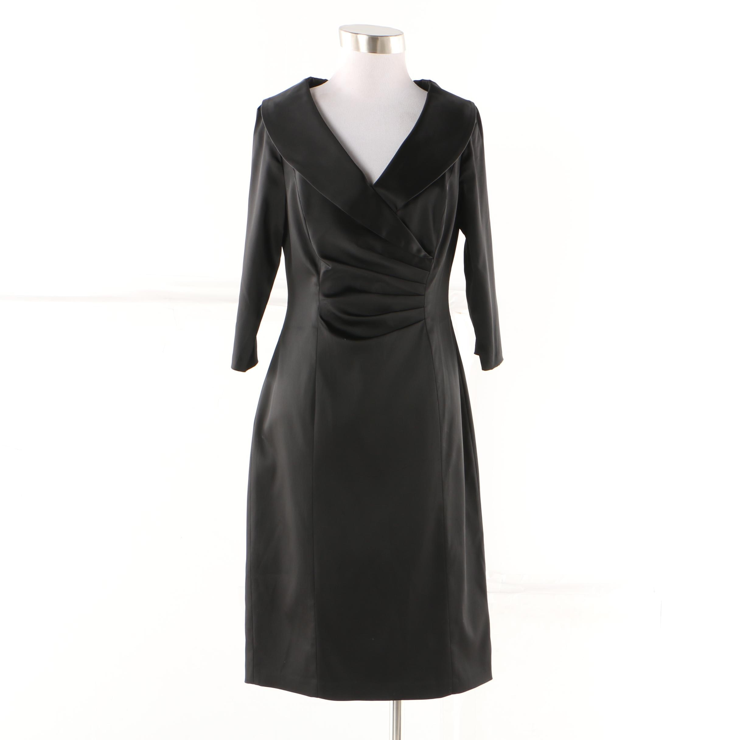 Kay Unger Black Cocktail Dress
