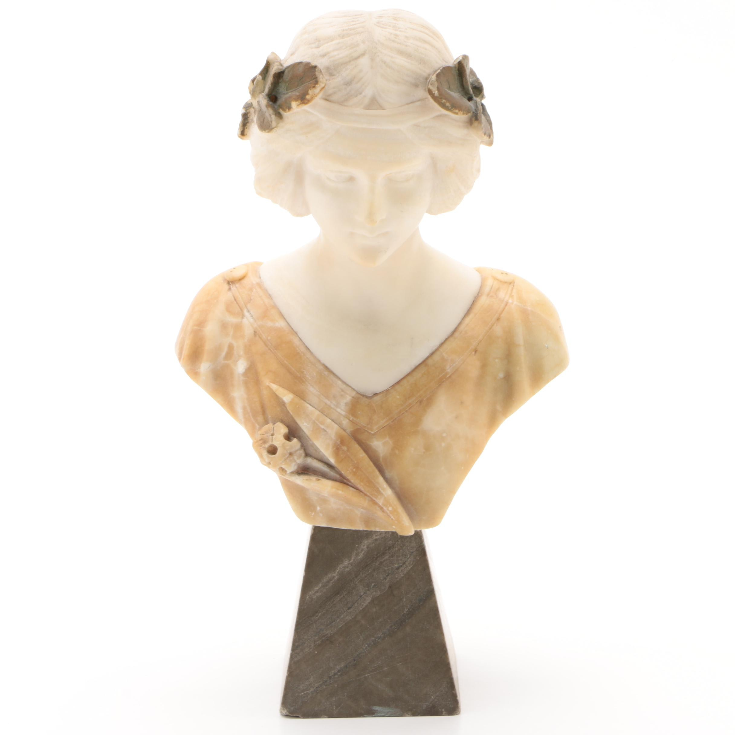 Alabaster Sculpture of Woman