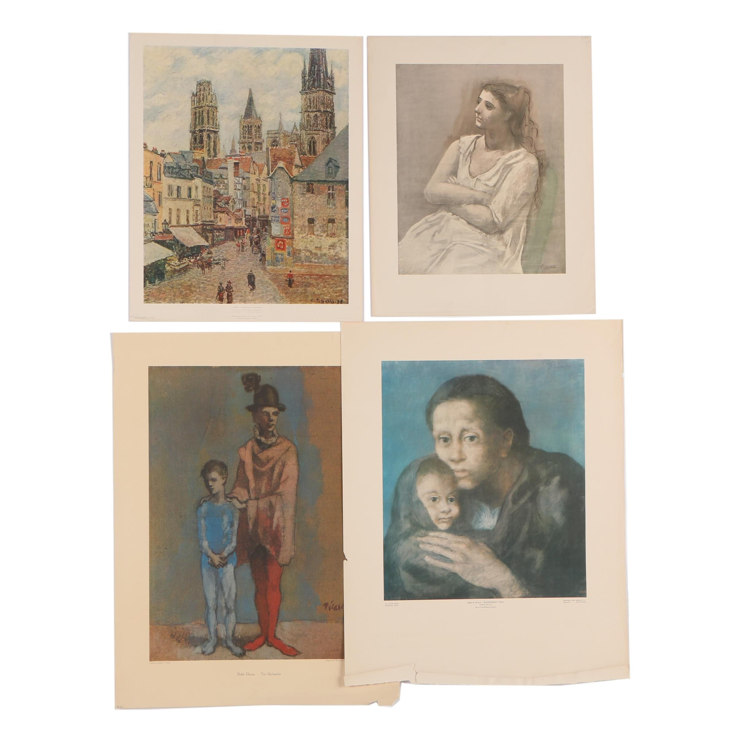 Reproduction Prints after Pablo Picasso and Camille Pissarro
