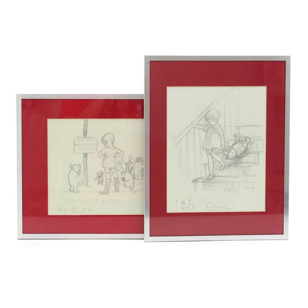 Offset Lithographs After Winnie The Pooh