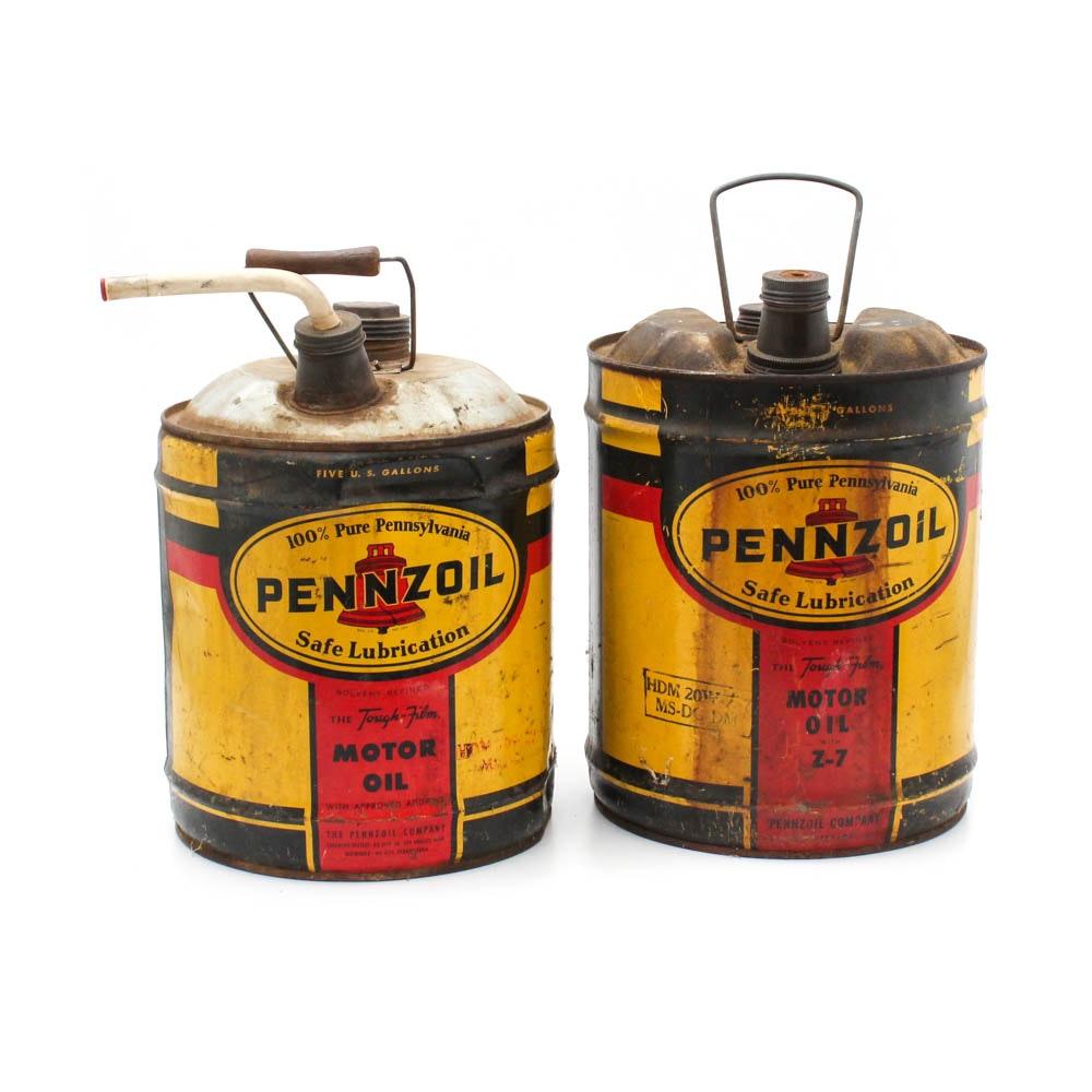 Vintage Penzoil Gas Cans