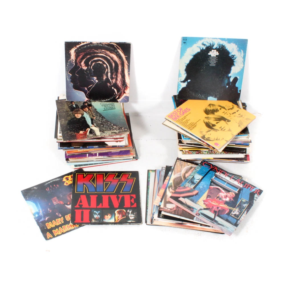Vinyl Records Featuring Sammy Hagar, U2, Simon & Garfunkel, Kiss and More