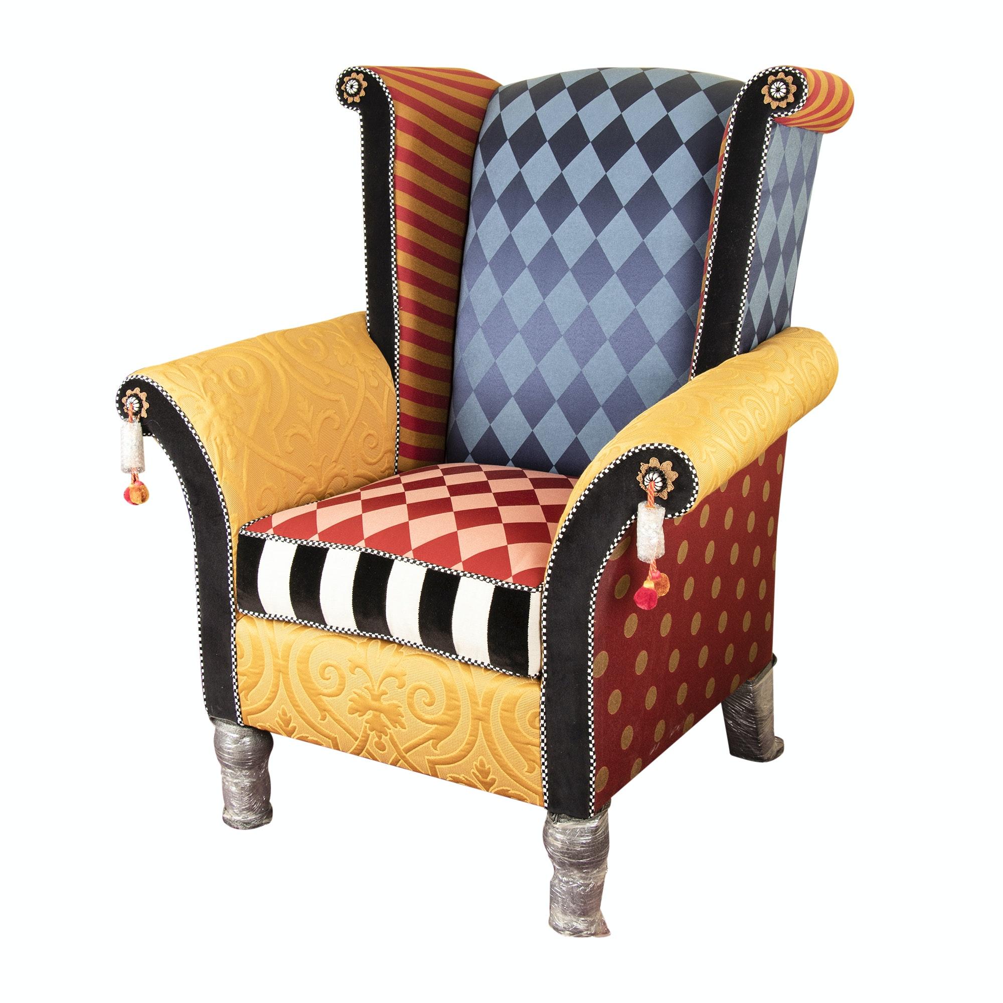 "MacKenzie-Childs ""Maestro"" Upholstered Armchair, 20th/21st Century"