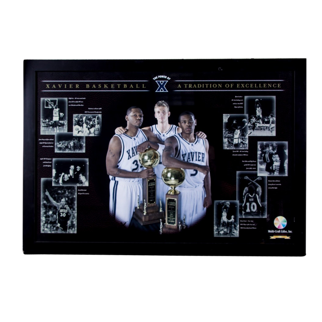 "Xavier's Basketball ""Tradition of Excellence"" Framed Display"