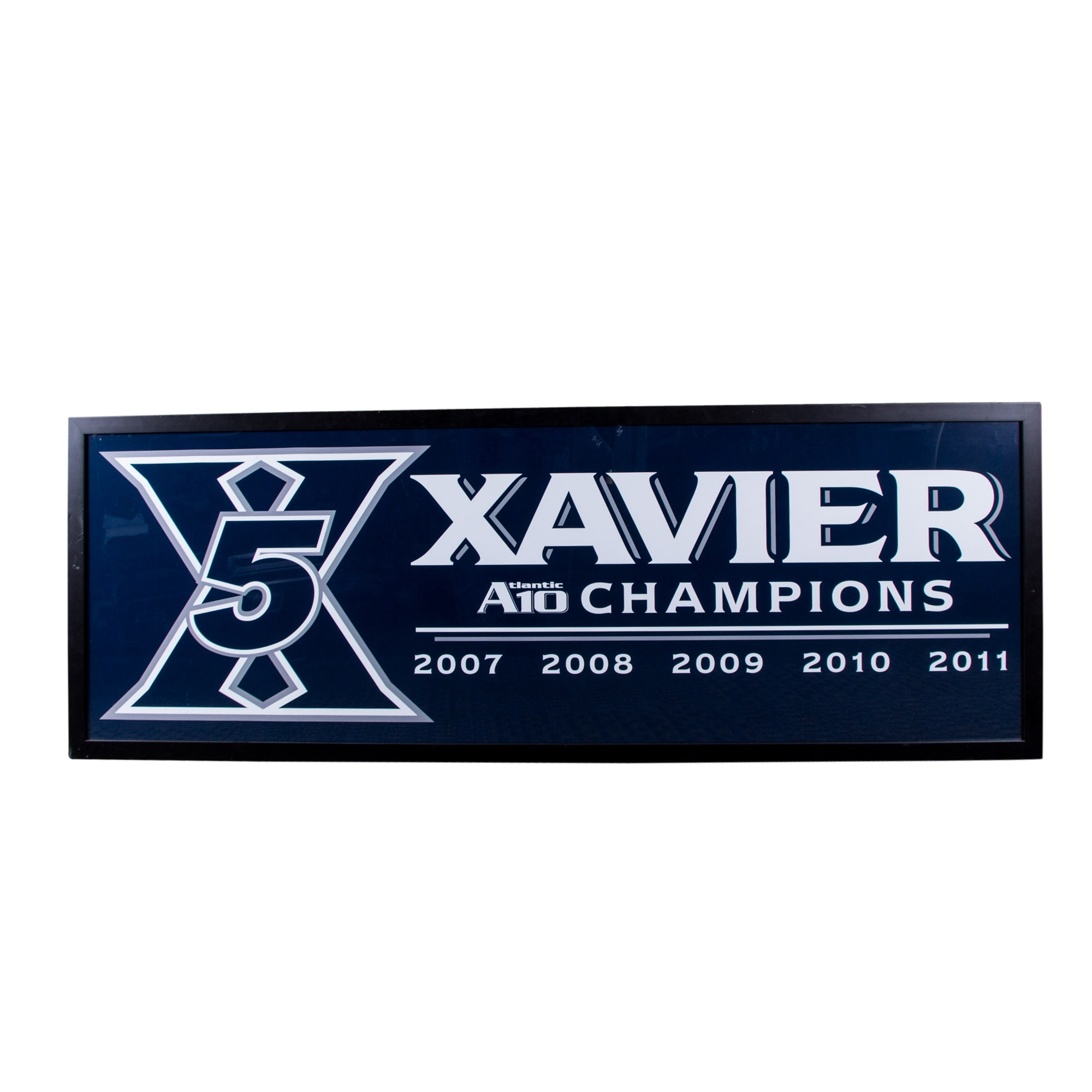 Xavier 5-Time Atlantic 10 Champions Framed Display