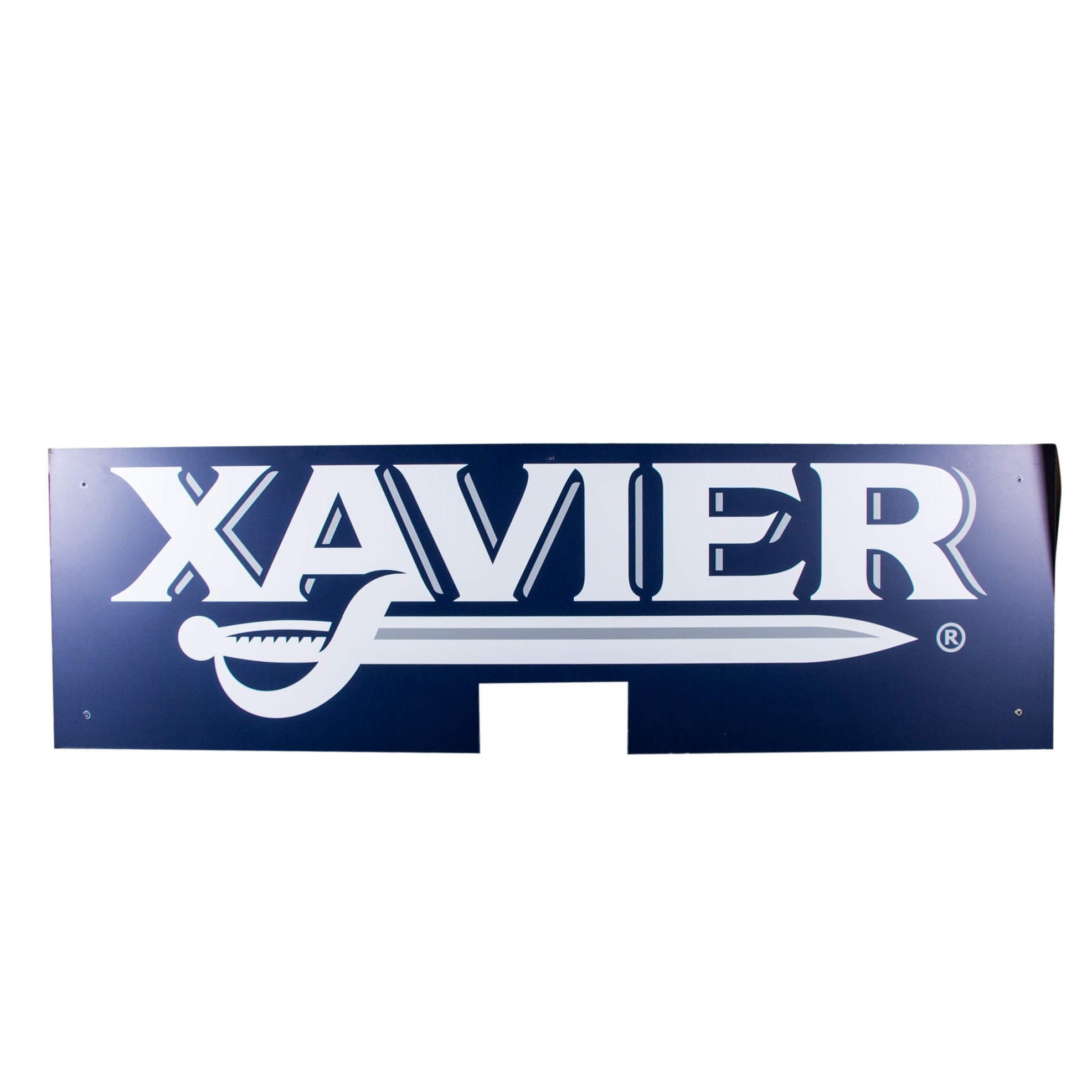 Large Xavier Athletic Team Logo Metal Sign