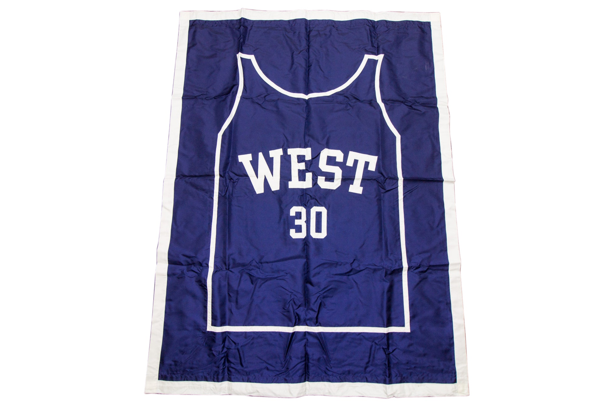 Large David West Retired Jersey Banner